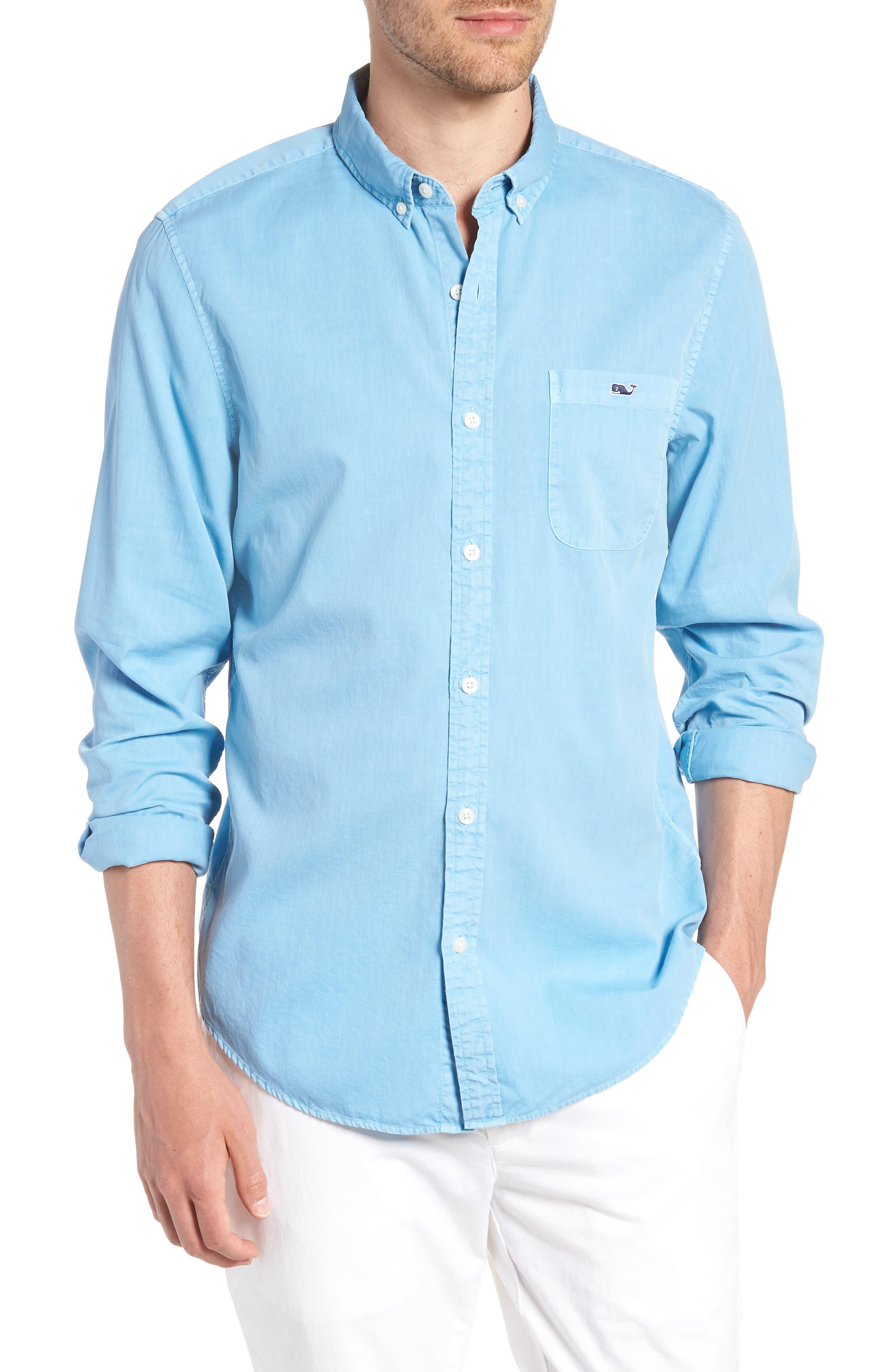 vineyard vines Tucker Slim Fit Solid Cotton & Silk Sport Shirt