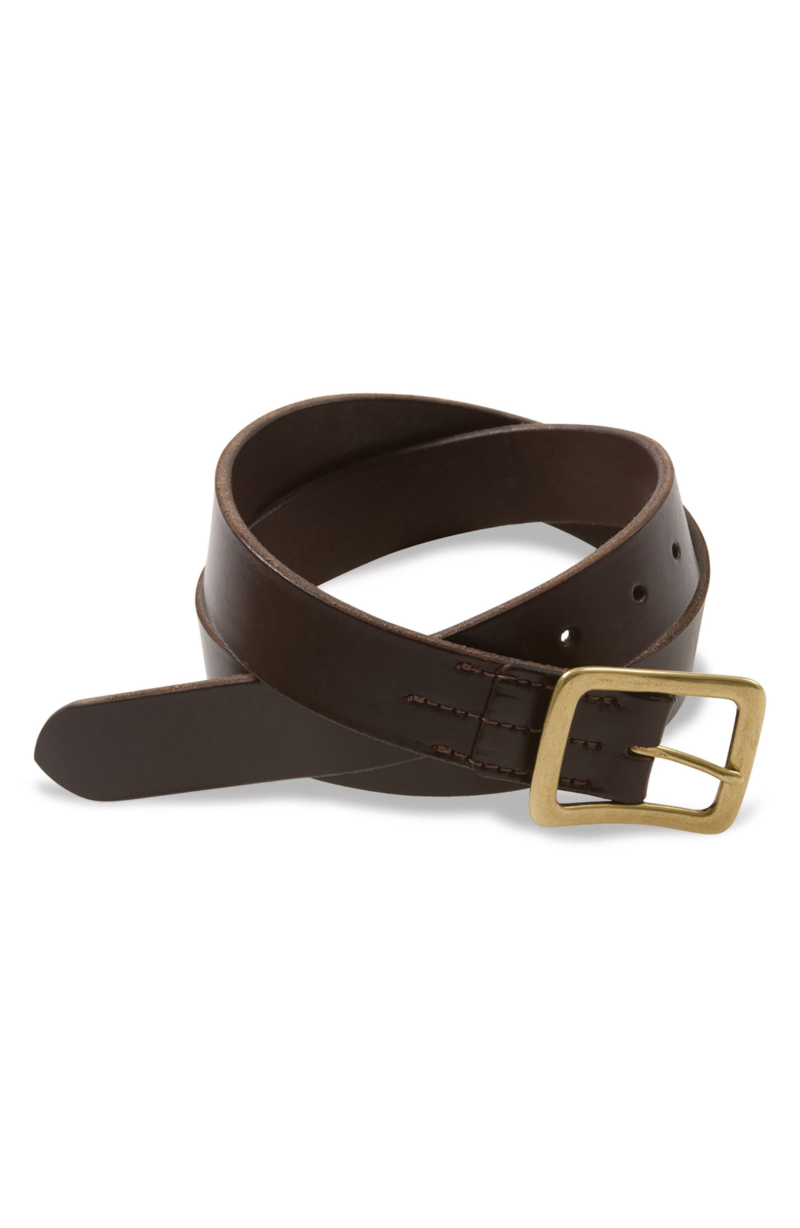 Leather Belt,                             Main thumbnail 1, color,                             Dark Brown English Bridle