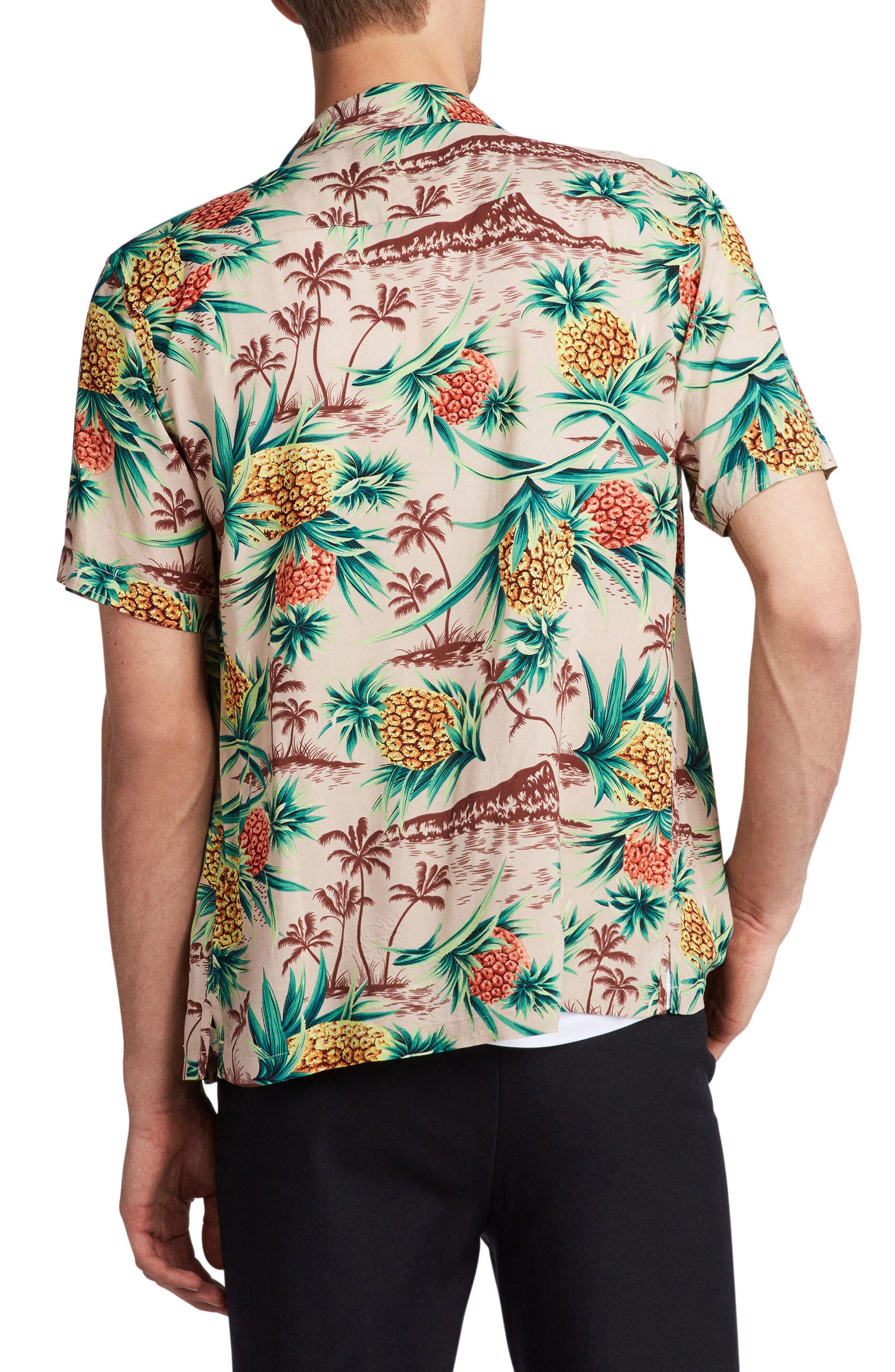 Endeavour Regular Fit Short Sleeve Sport Shirt,                             Alternate thumbnail 2, color,                             Mushroom Brown