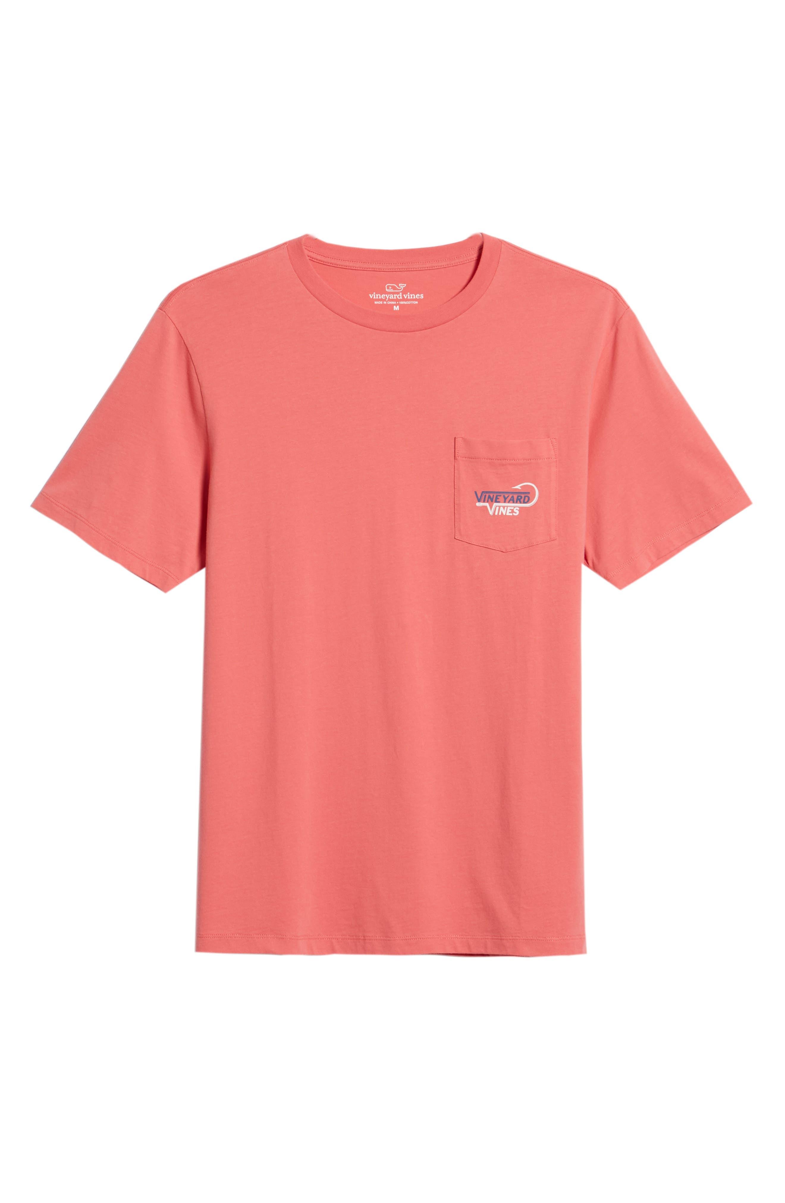 Vineyard Hook Regular Fit Crewneck T-Shirt,                             Alternate thumbnail 6, color,                             Jetty Red