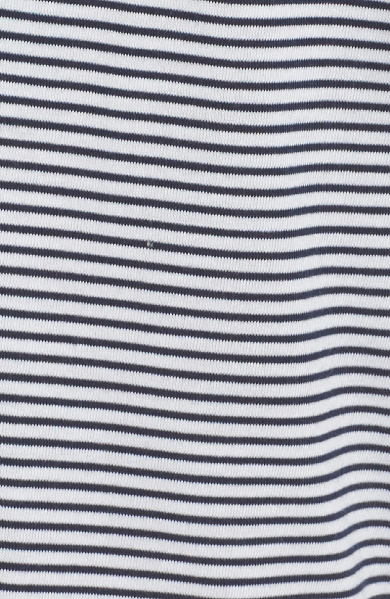 Crop Pajama Pants,                             Alternate thumbnail 6, color,                             Lakeside Stripe