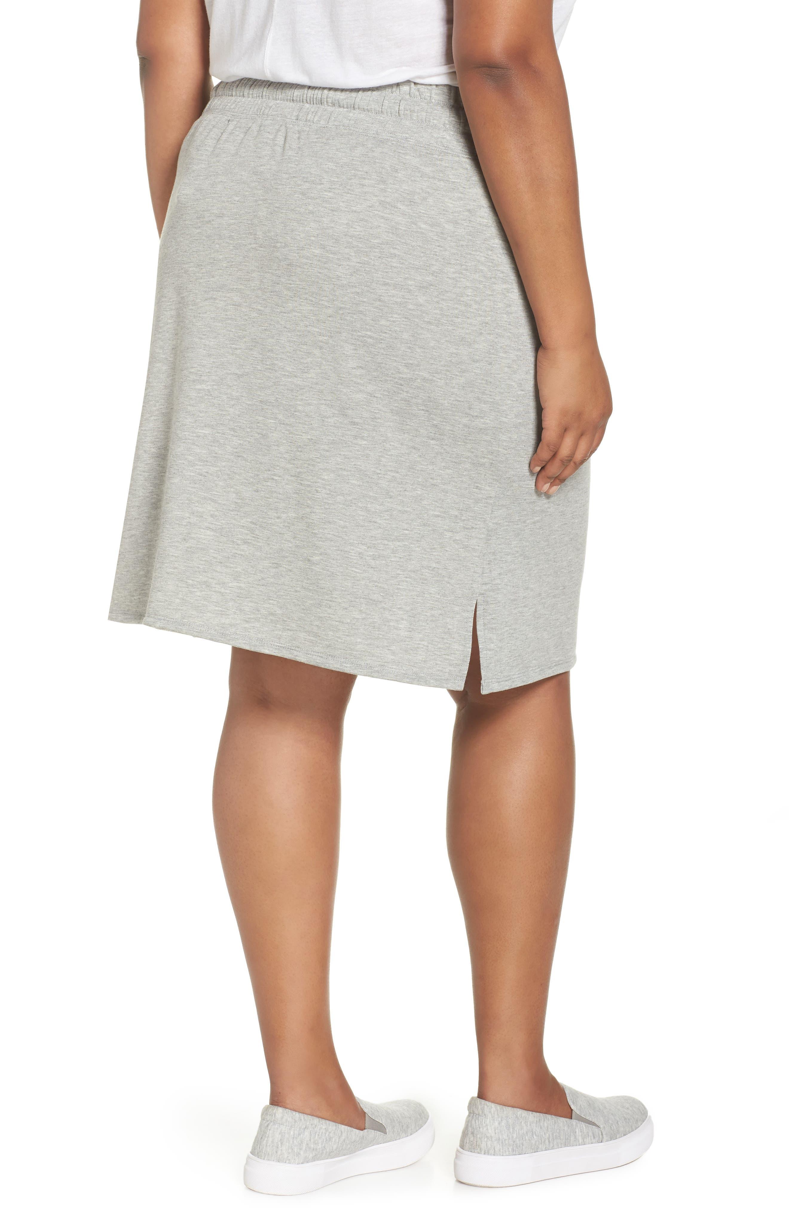 Off-Duty Tie Waist Miniskirt,                             Alternate thumbnail 2, color,                             Grey Heather