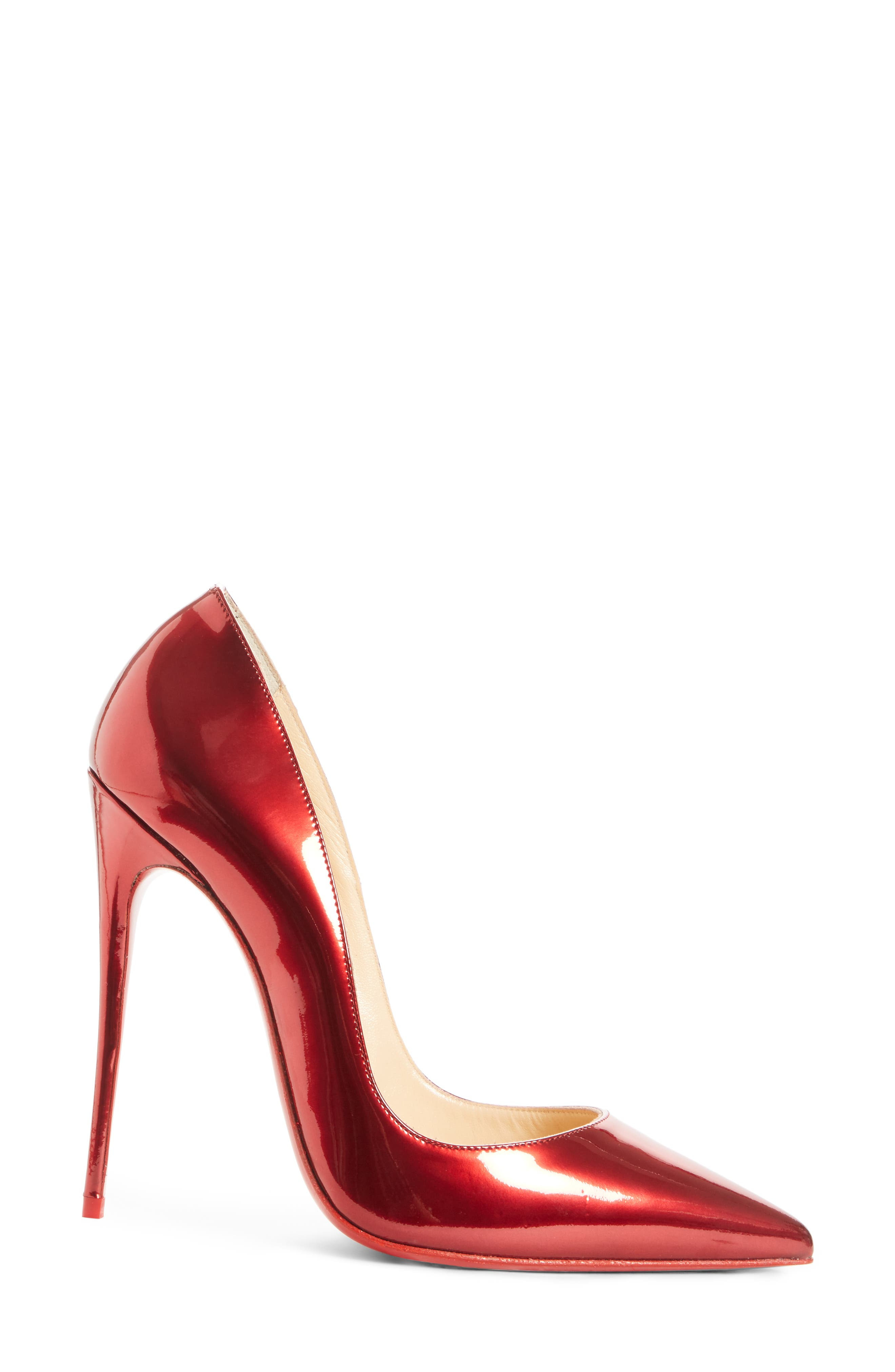 So Kate Pointy Toe Pump,                             Alternate thumbnail 3, color,                             Loubi Red