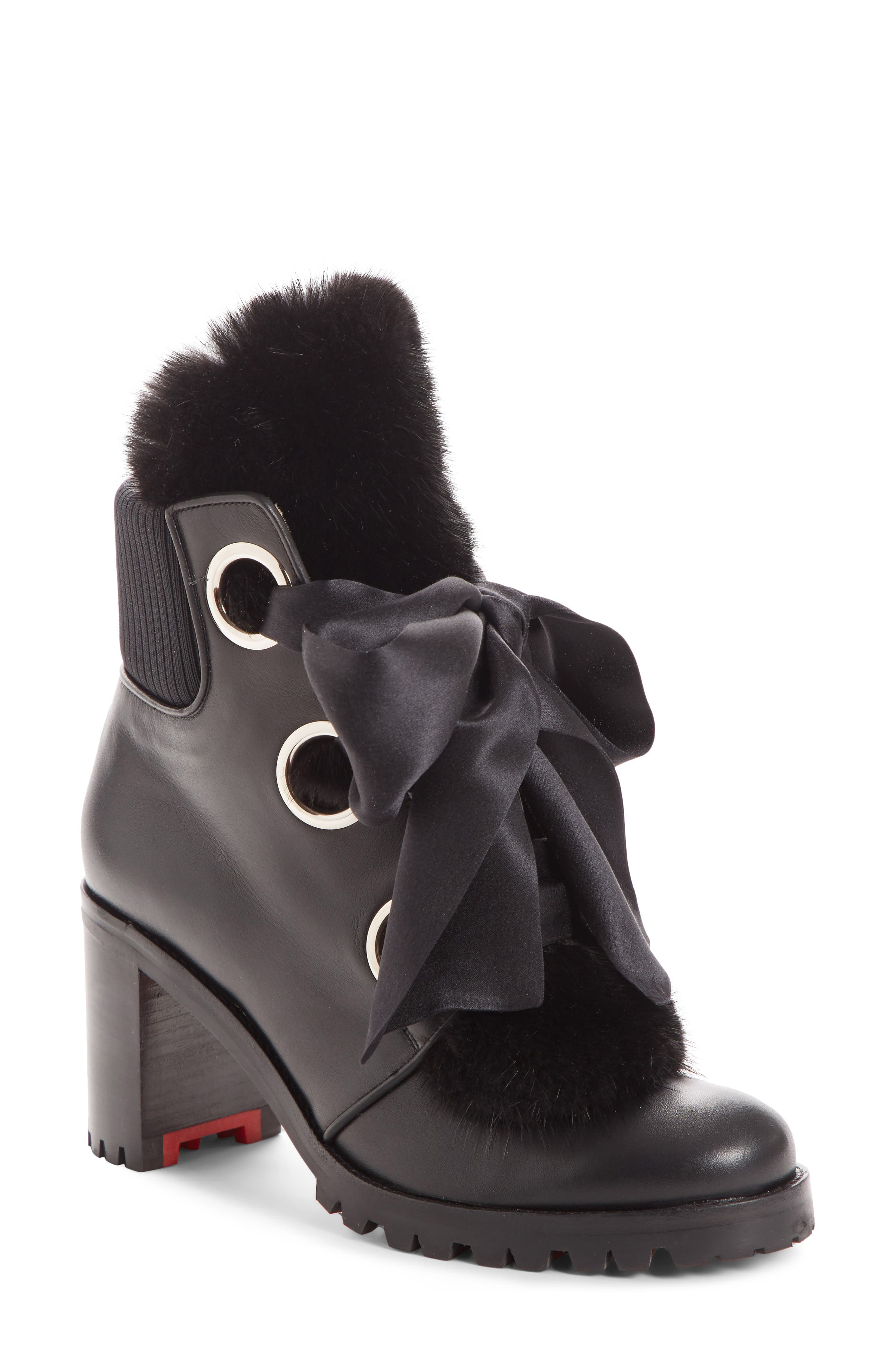 Boots for Women, Booties On Sale, Black, Leather, 2017, 3.5 Moncler