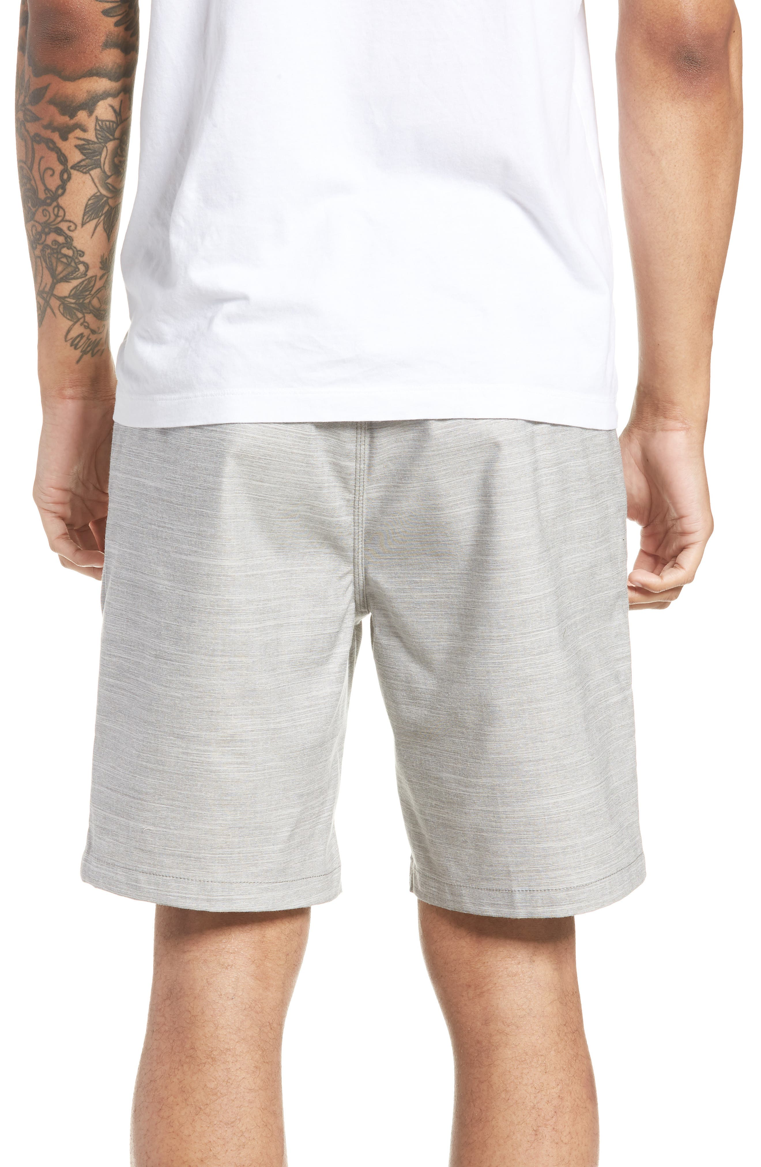 Authentic Heather Decksider Shorts,                             Alternate thumbnail 2, color,                             Frost Grey Heather