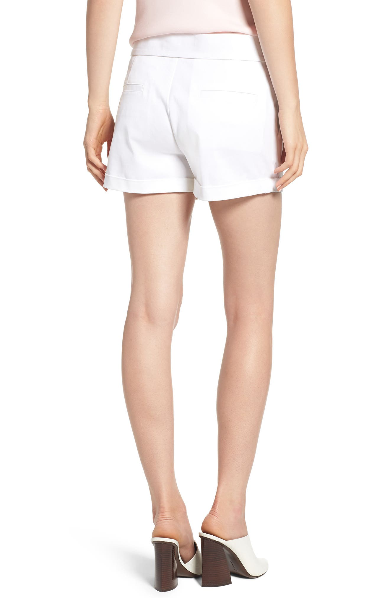 Yelinda Shorts,                             Alternate thumbnail 2, color,                             White
