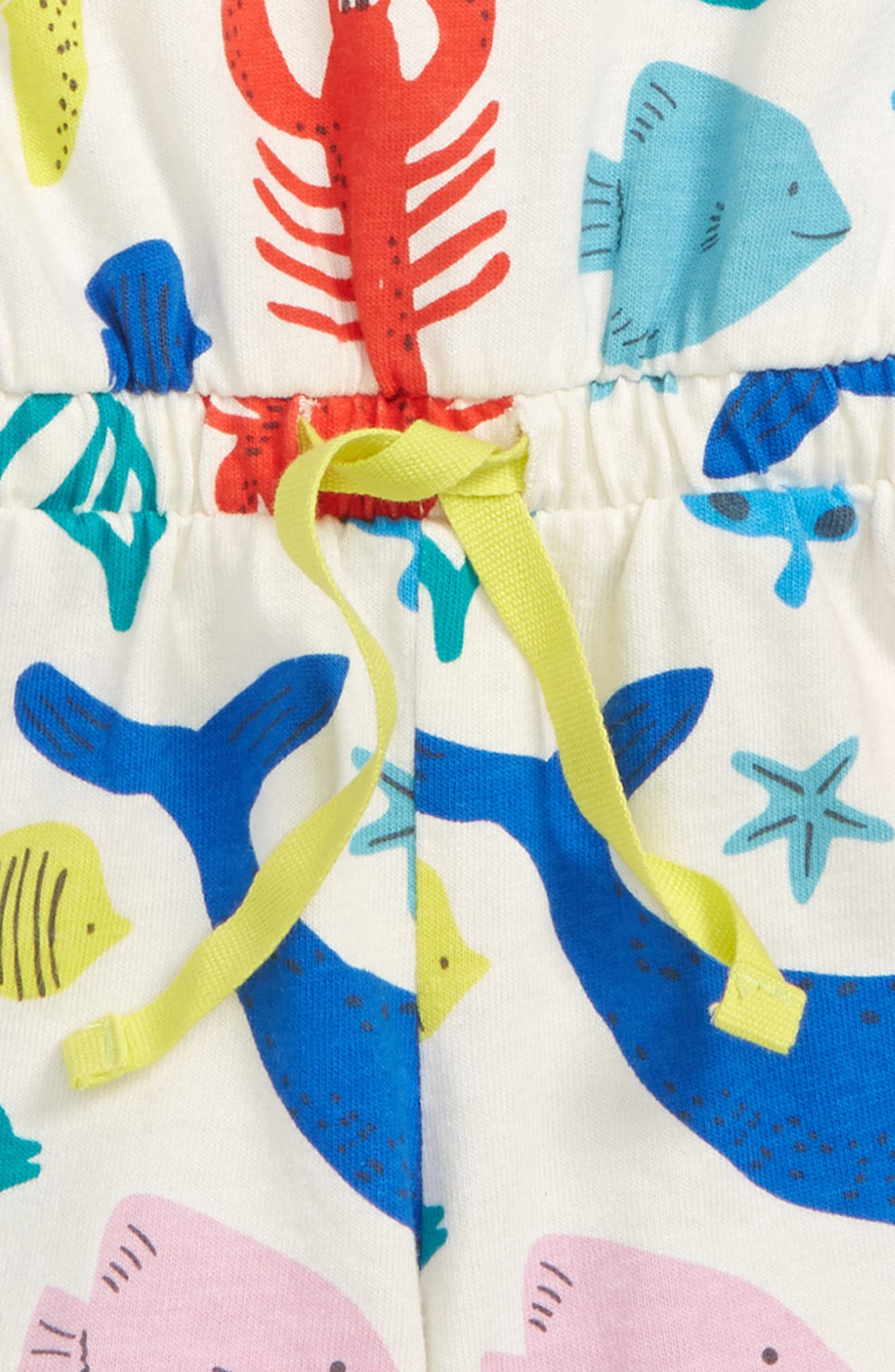 Retro Jersey Romper,                             Alternate thumbnail 2, color,                             Ivory Under The Sea