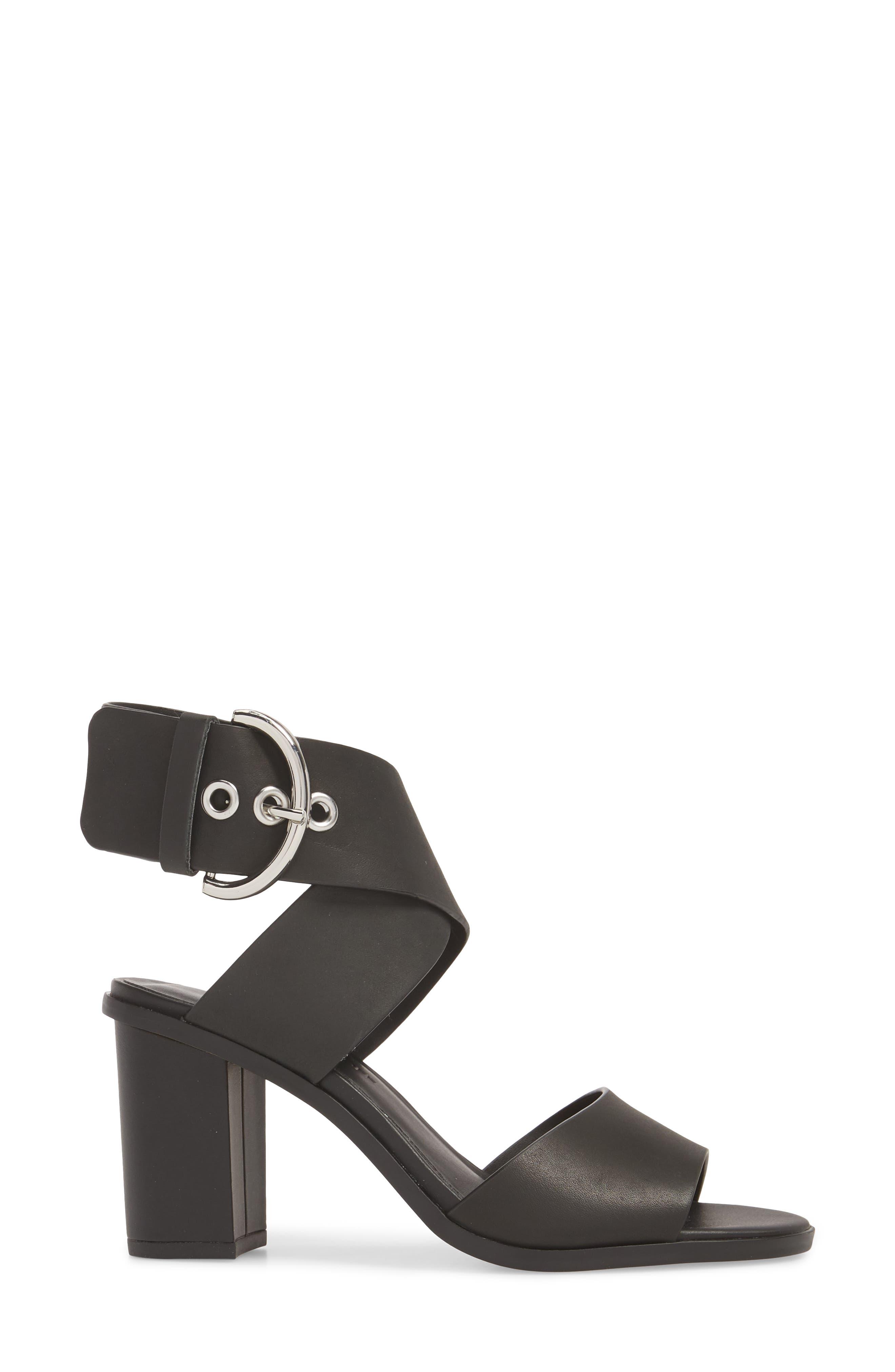 Valaree Sandal,                             Alternate thumbnail 3, color,                             Black Leather