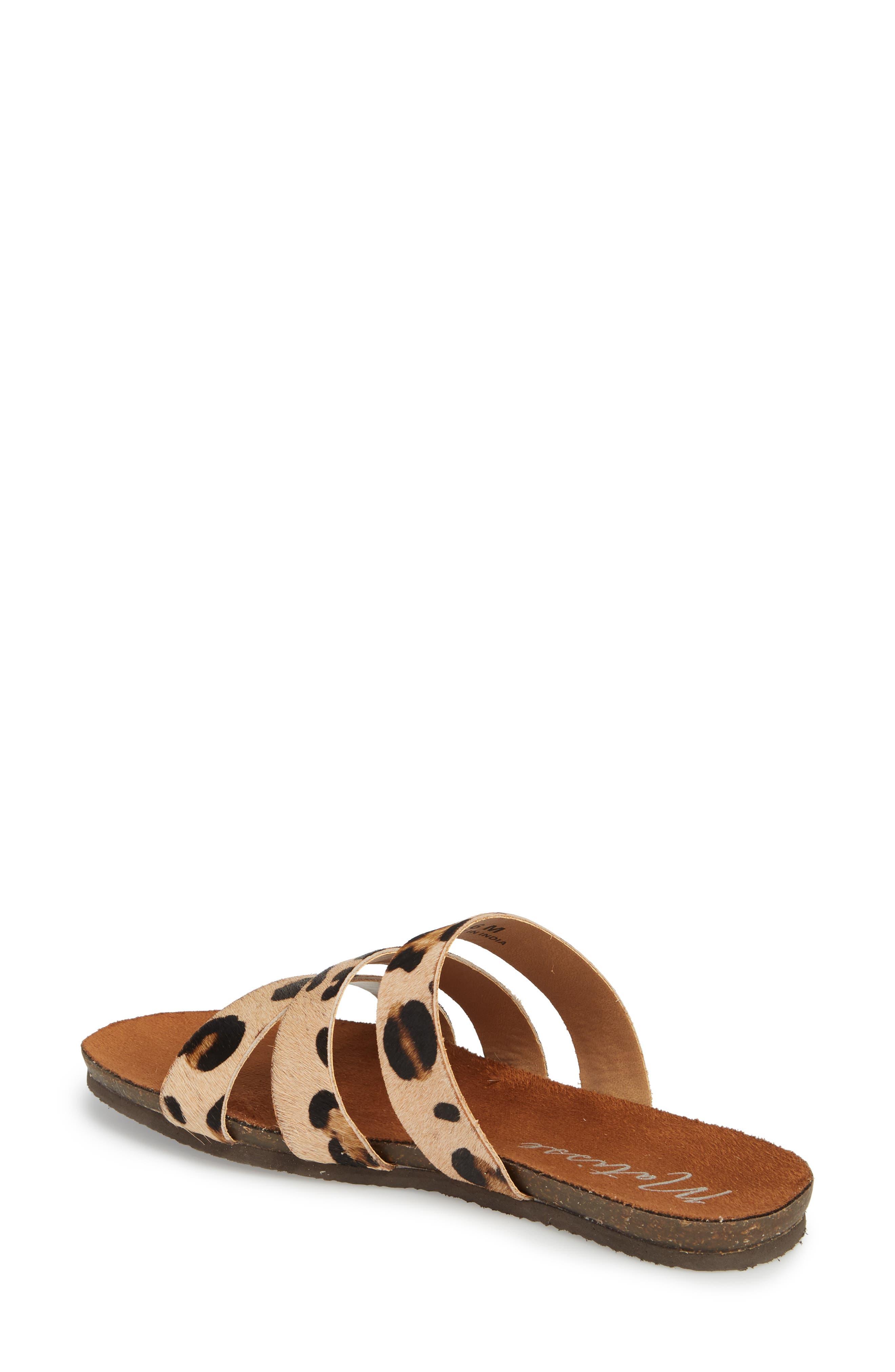 Florence Slide Sandal,                             Alternate thumbnail 2, color,                             Leopard Calf Hair