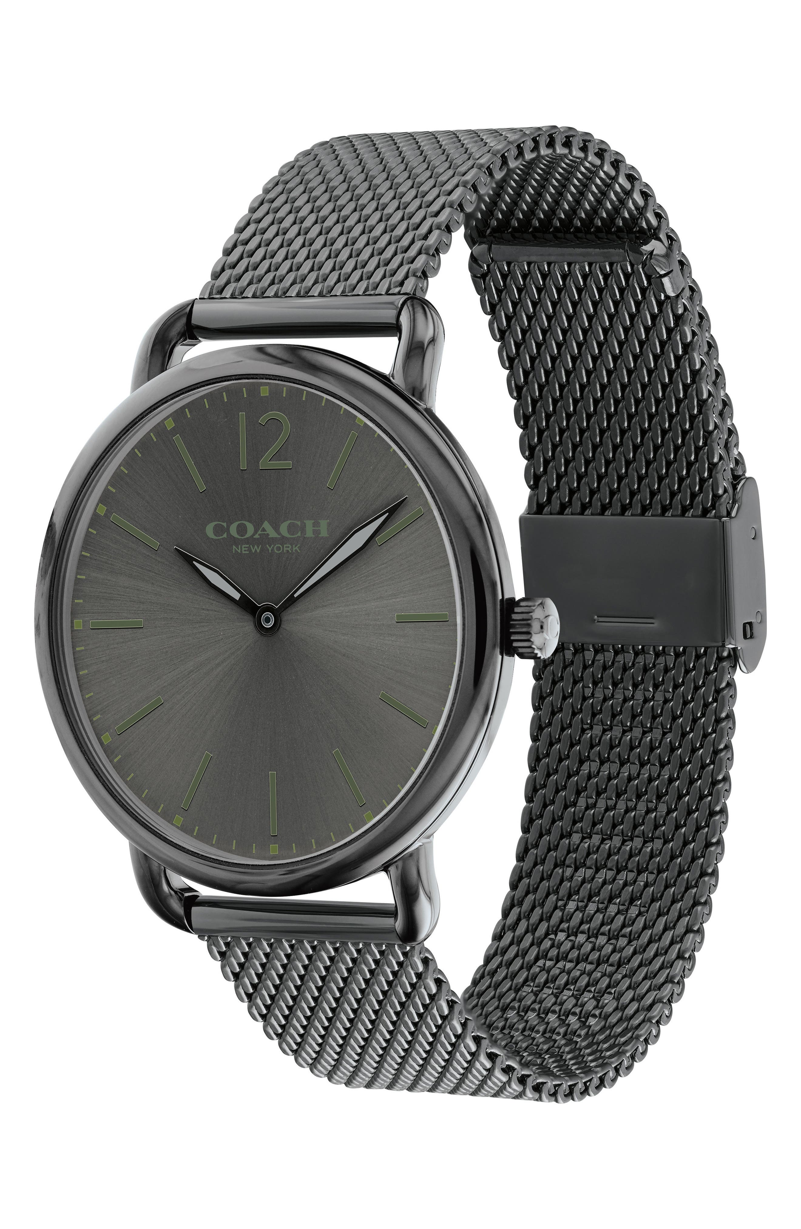 Delancey Mesh Strap Watch, 40mm,                             Alternate thumbnail 3, color,                             Grey