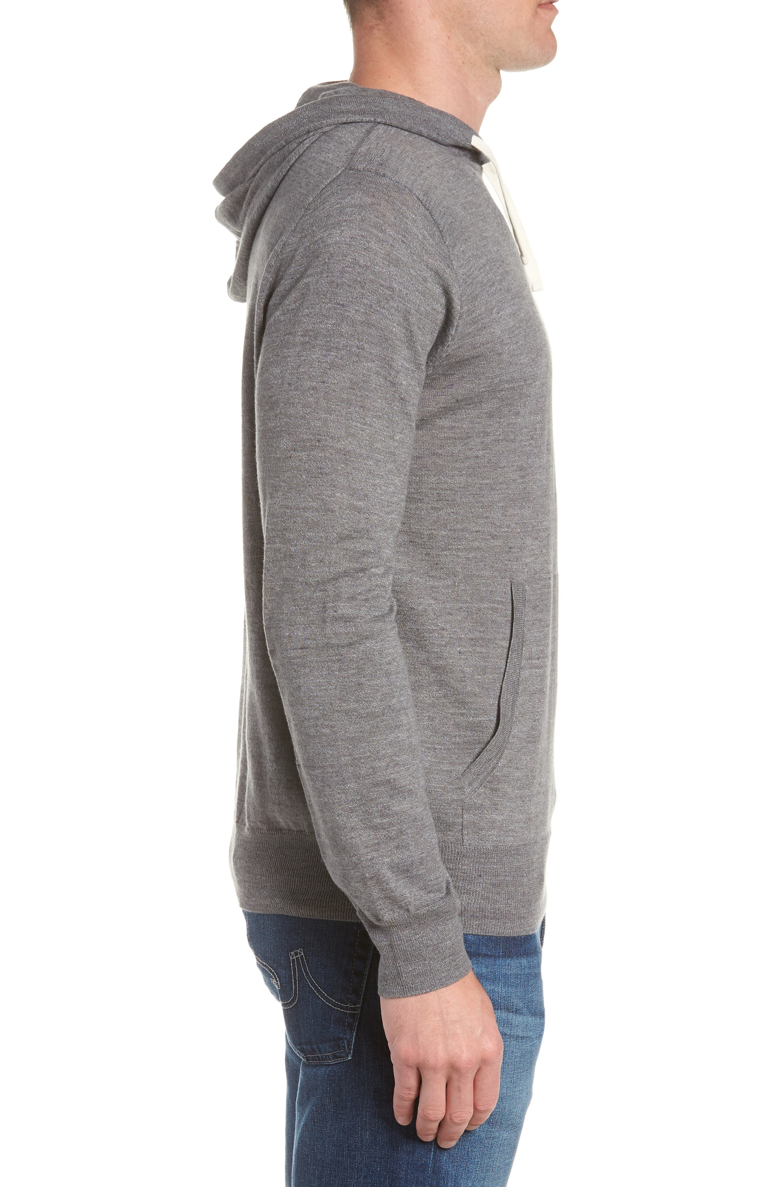Lightweight Pullover Hoodie,                             Alternate thumbnail 3, color,                             Heather Pewter