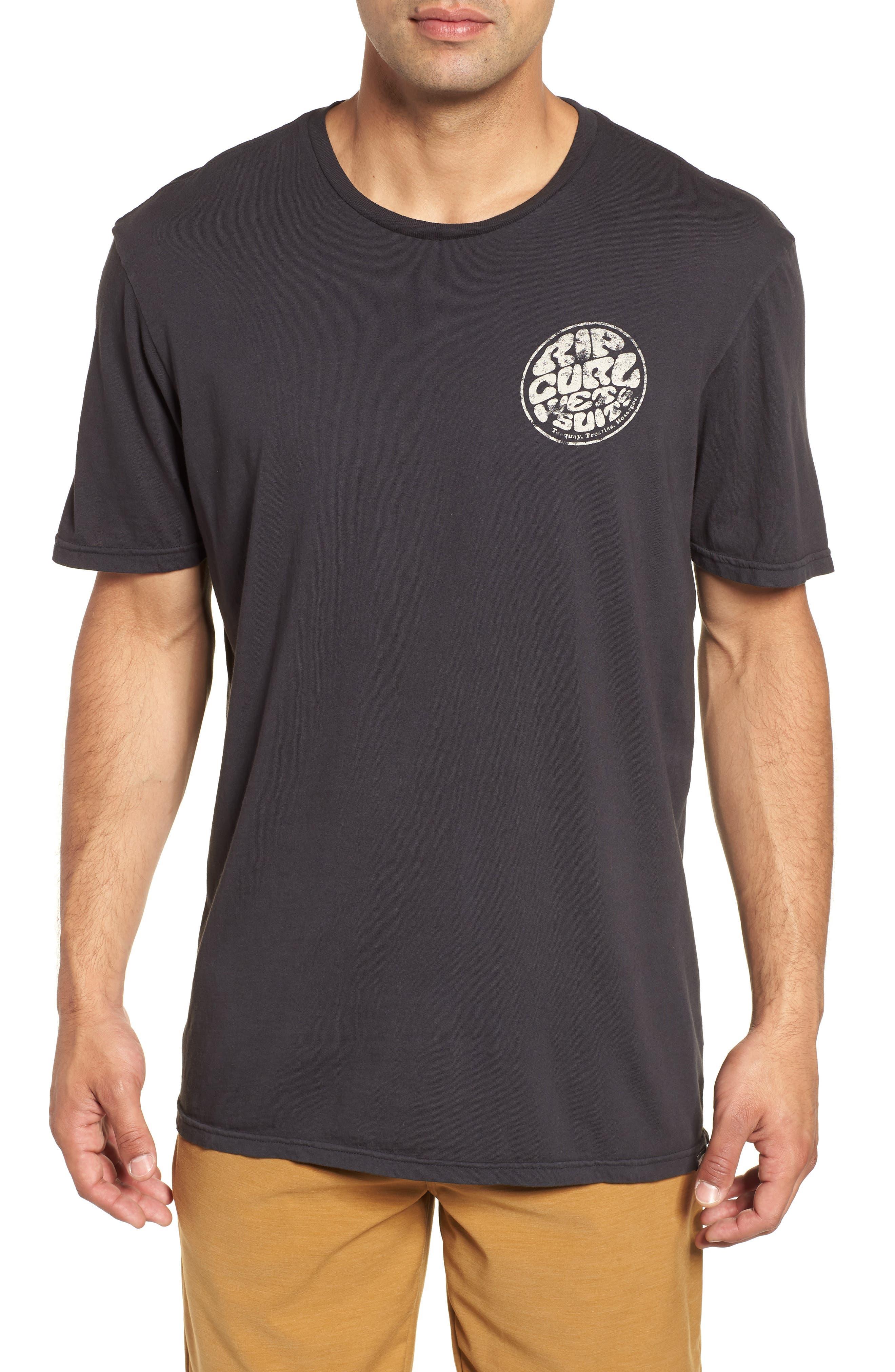Vintage Wettie Heritage T-Shirt,                         Main,                         color, Charcoal