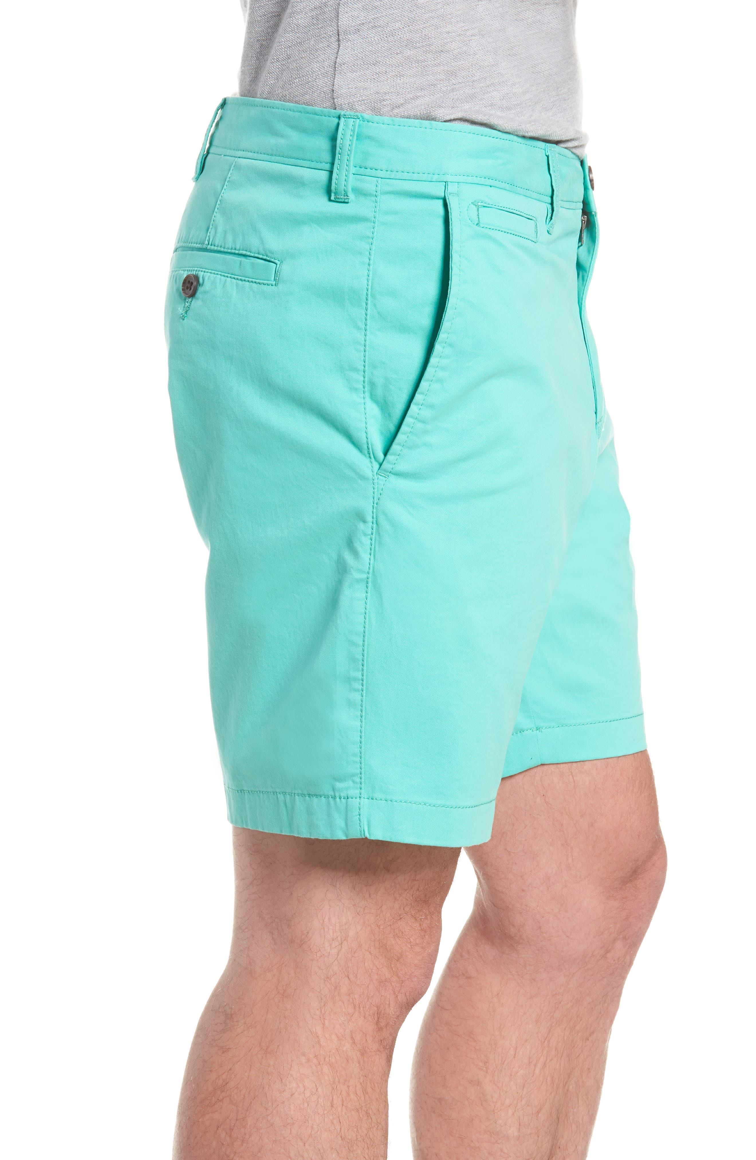 Ballard Slim Fit Stretch Chino 9-Inch Shorts,                             Alternate thumbnail 3, color,                             Green Largo