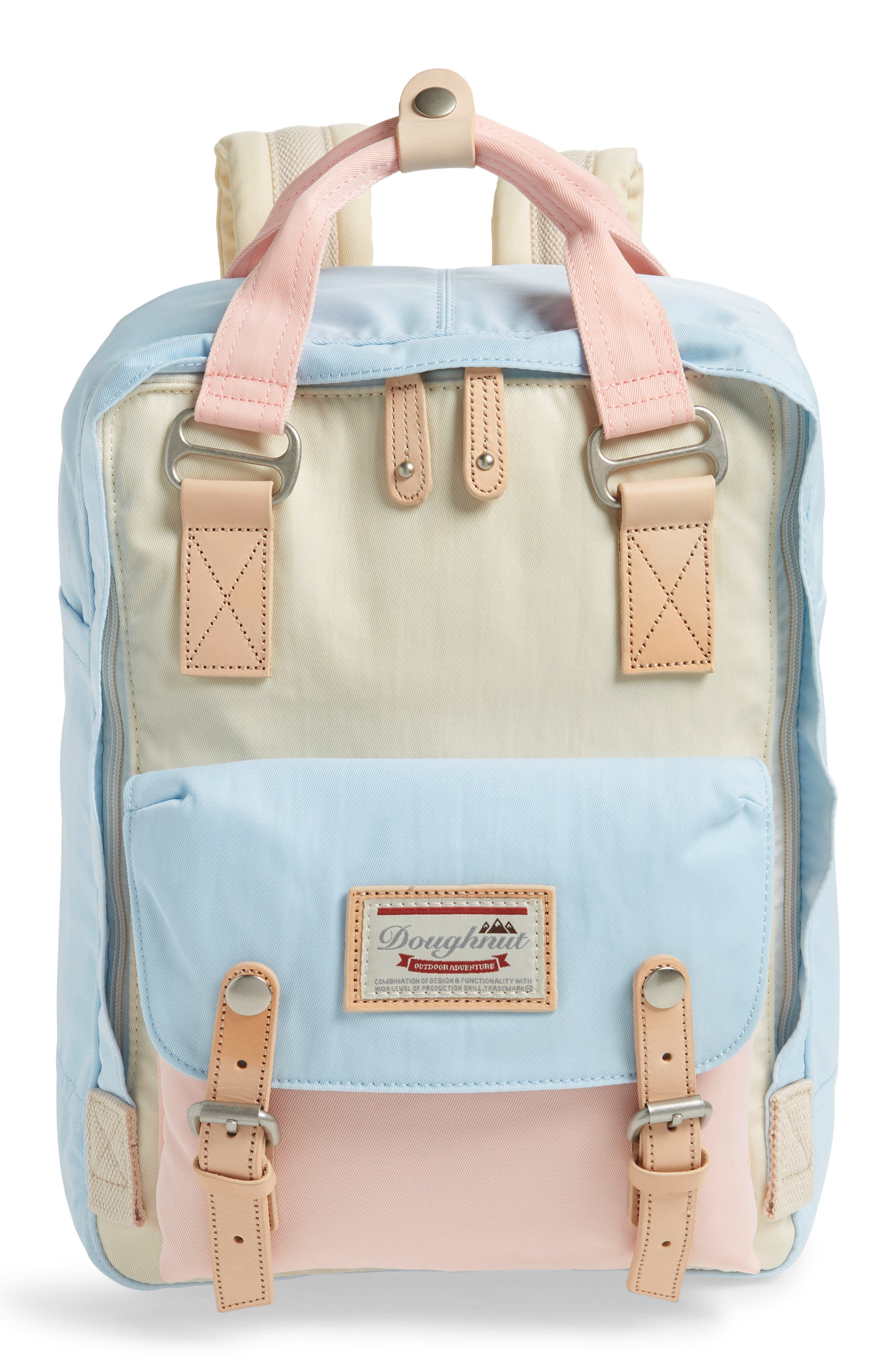 MACAROON COLORBLOCK BACKPACK - WHITE