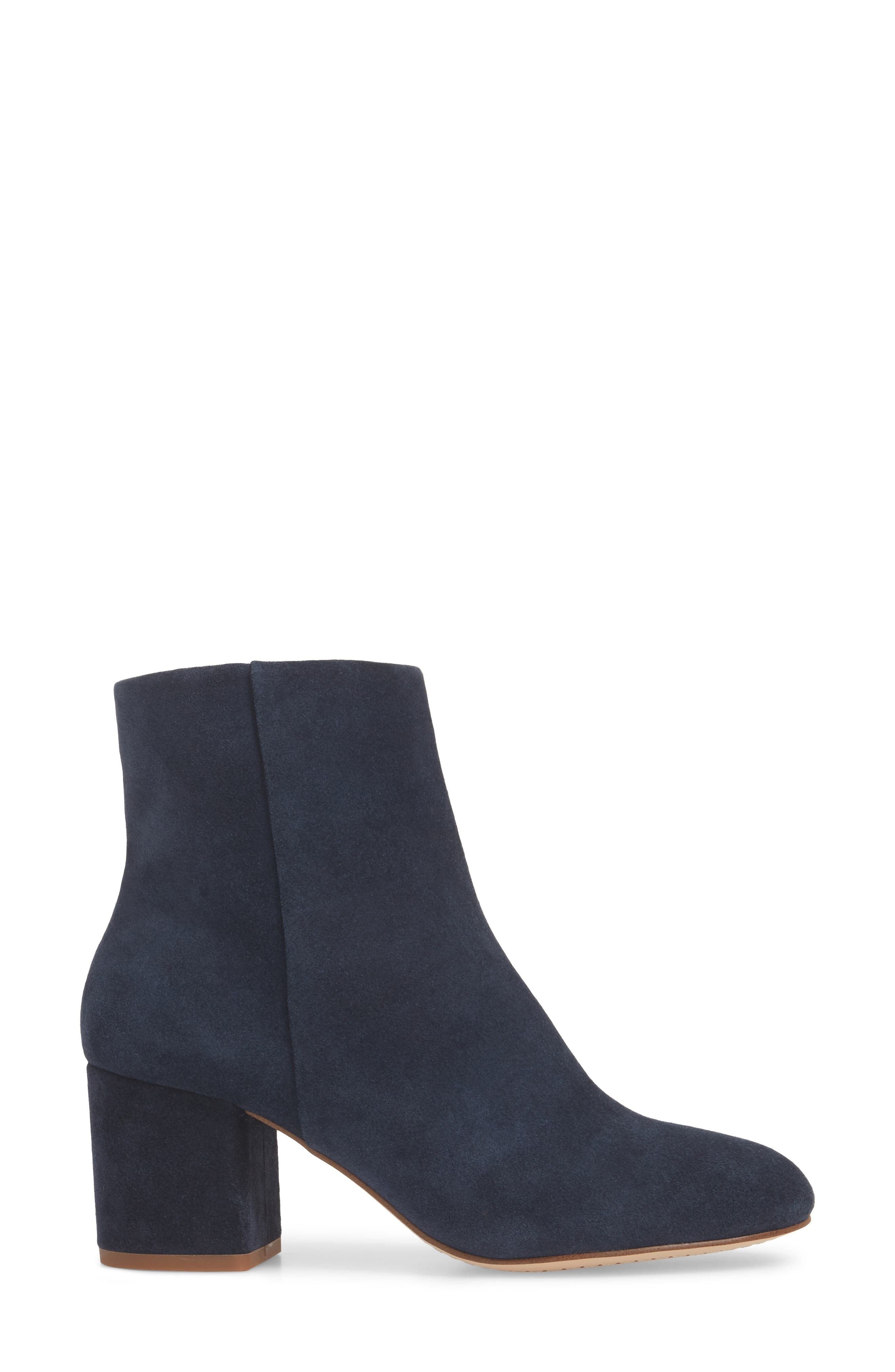 Nixie Bootie,                             Alternate thumbnail 3, color,                             Navy Suede