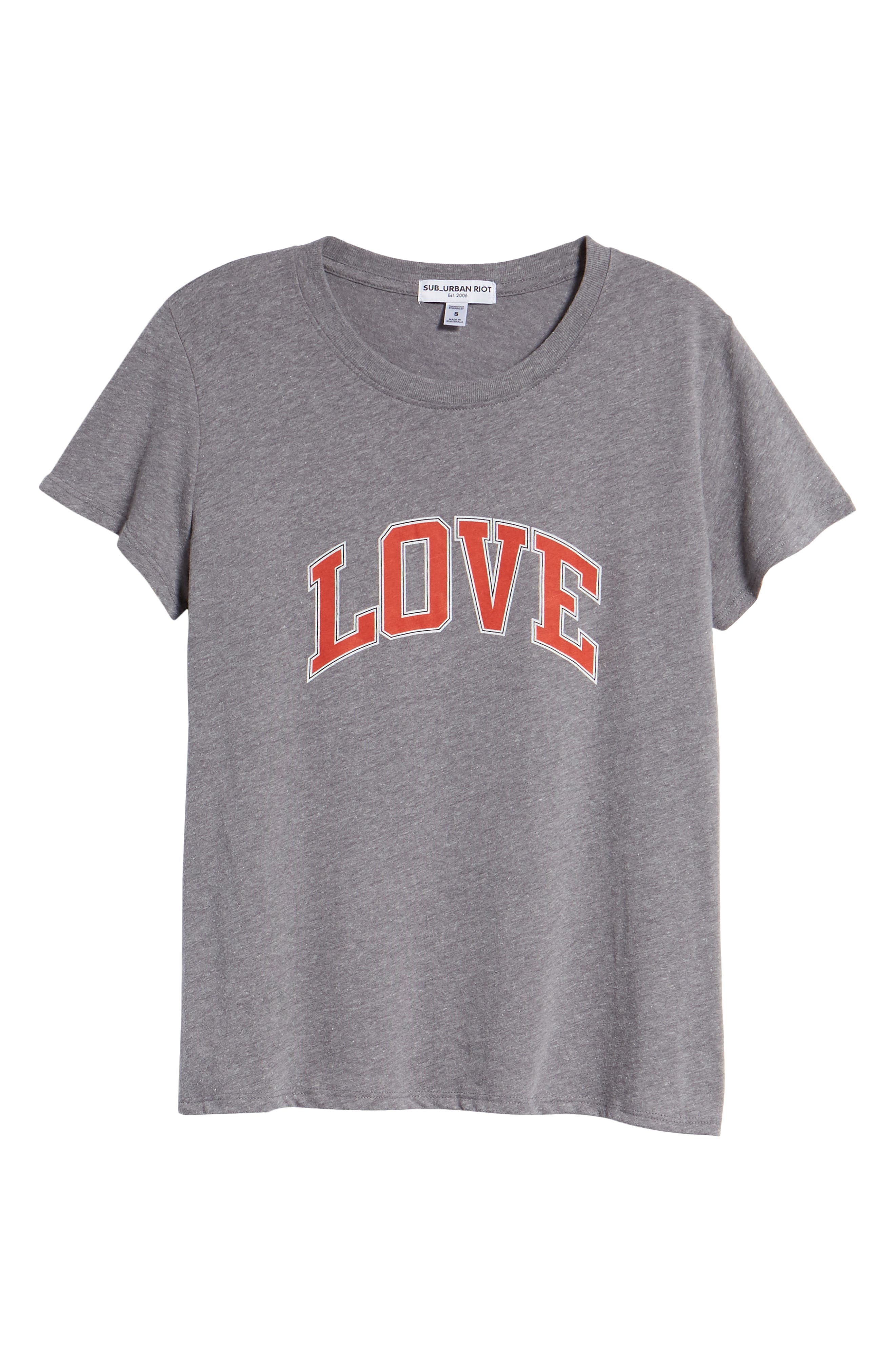 Love Tee,                             Alternate thumbnail 6, color,                             Heather Grey
