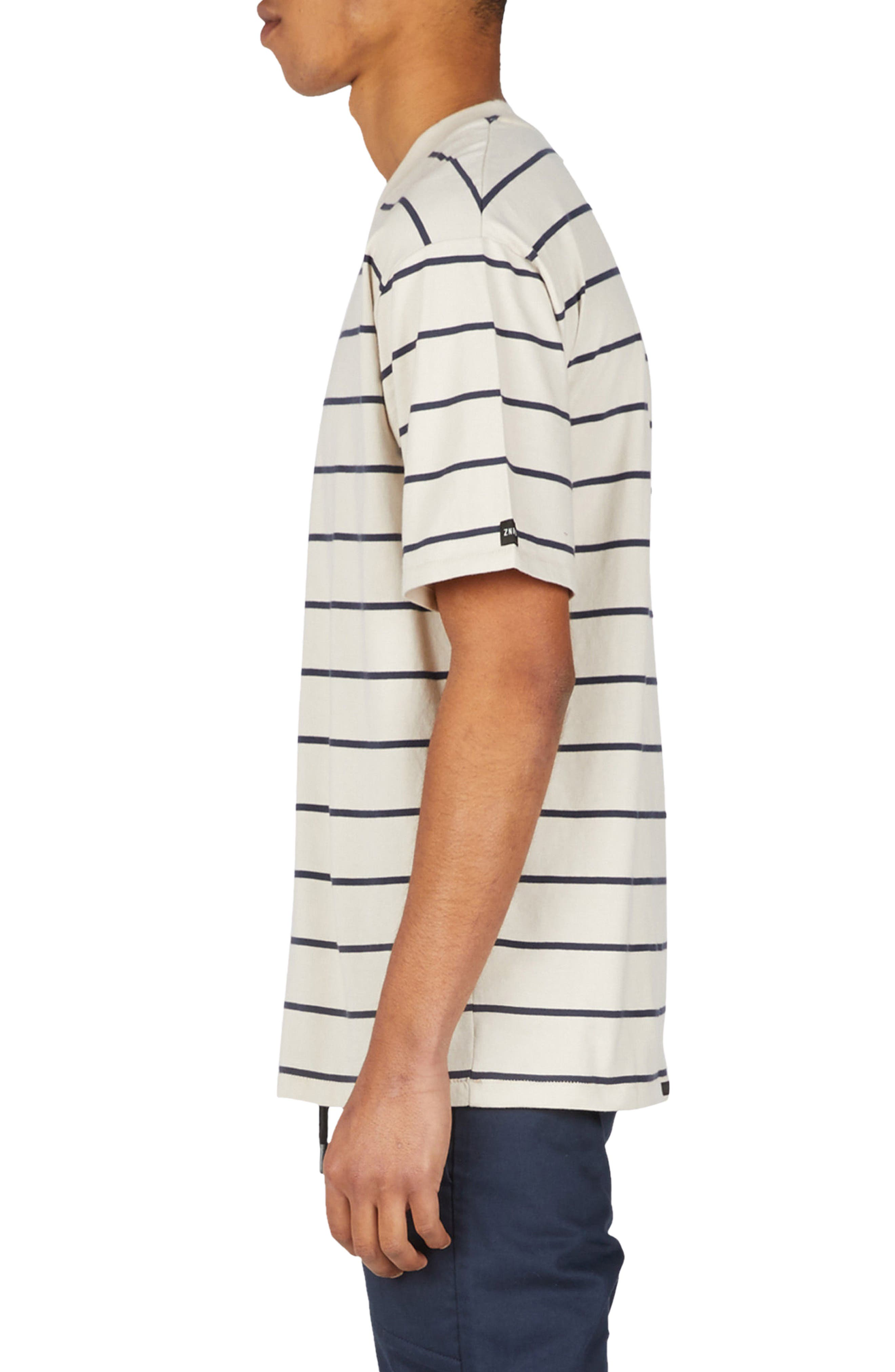 Stripe Box T-Shirt,                             Alternate thumbnail 3, color,                             Natural/ Duke Blue