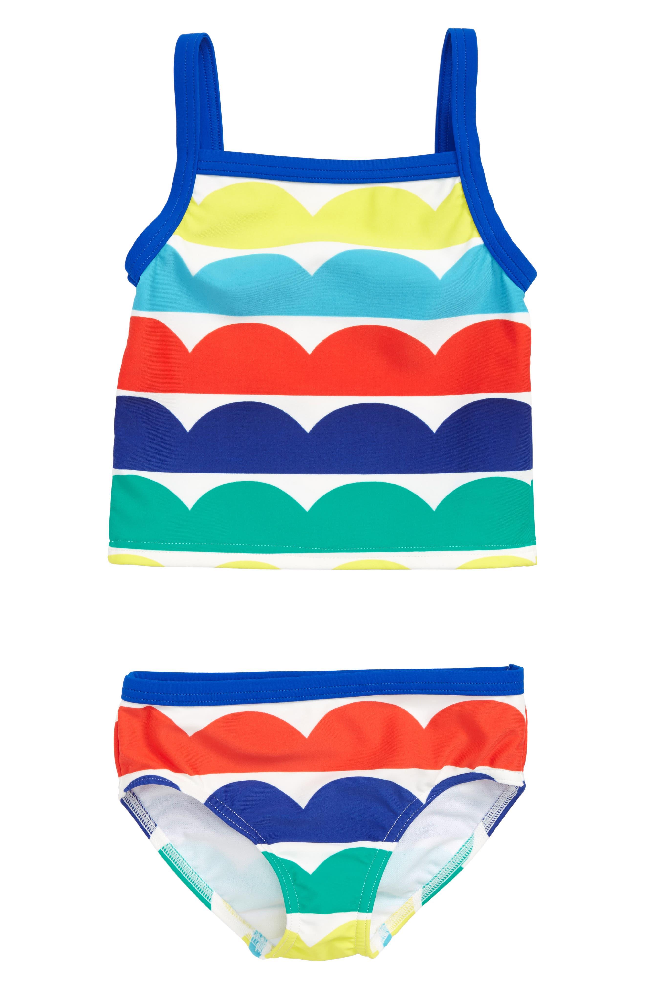 Two-Piece Tankini Swimsuit,                         Main,                         color, Multi Rainbow Wave