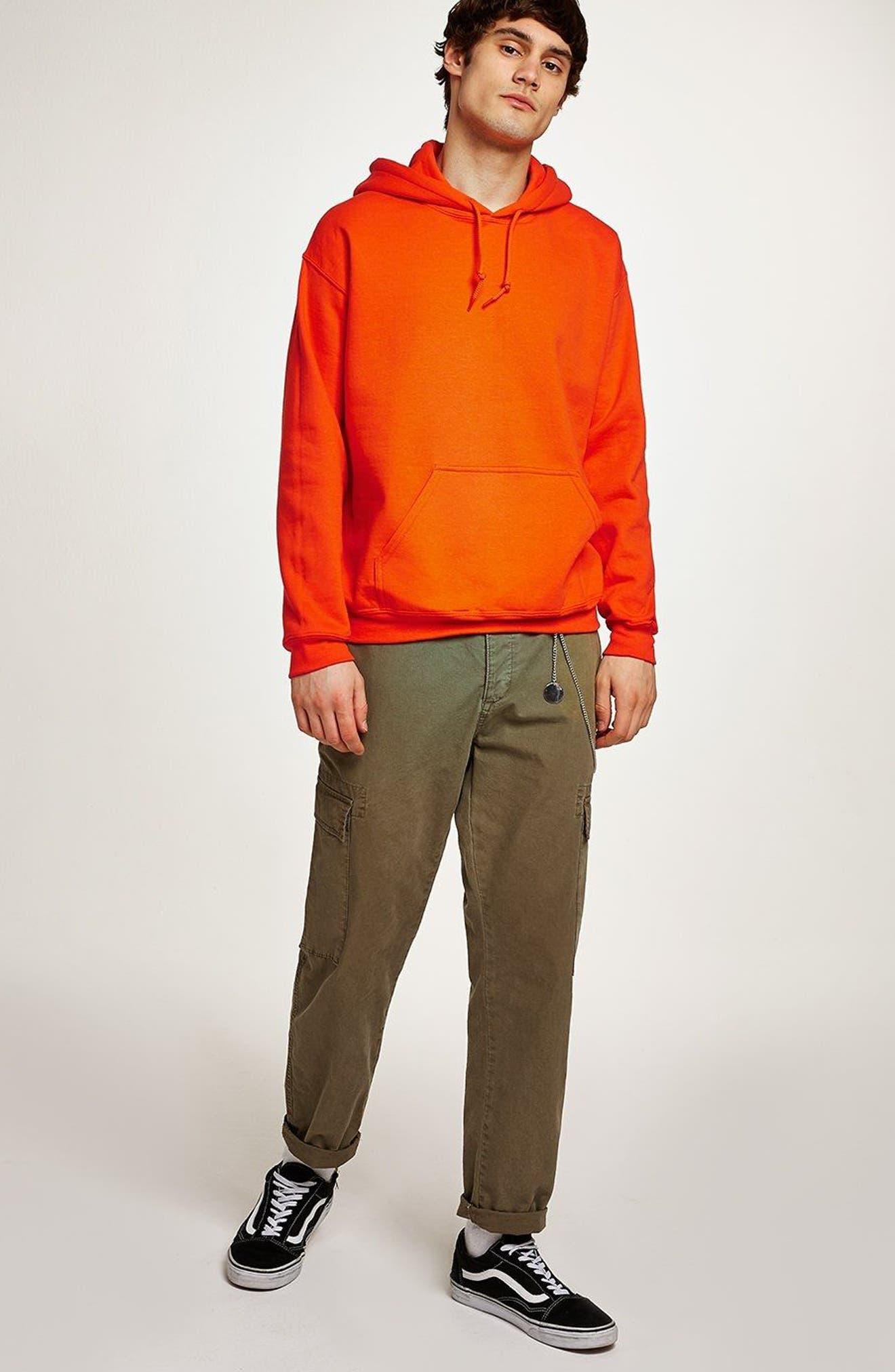 Classic Fit Gildan Pullover Hoodie,                             Alternate thumbnail 5, color,                             Orange