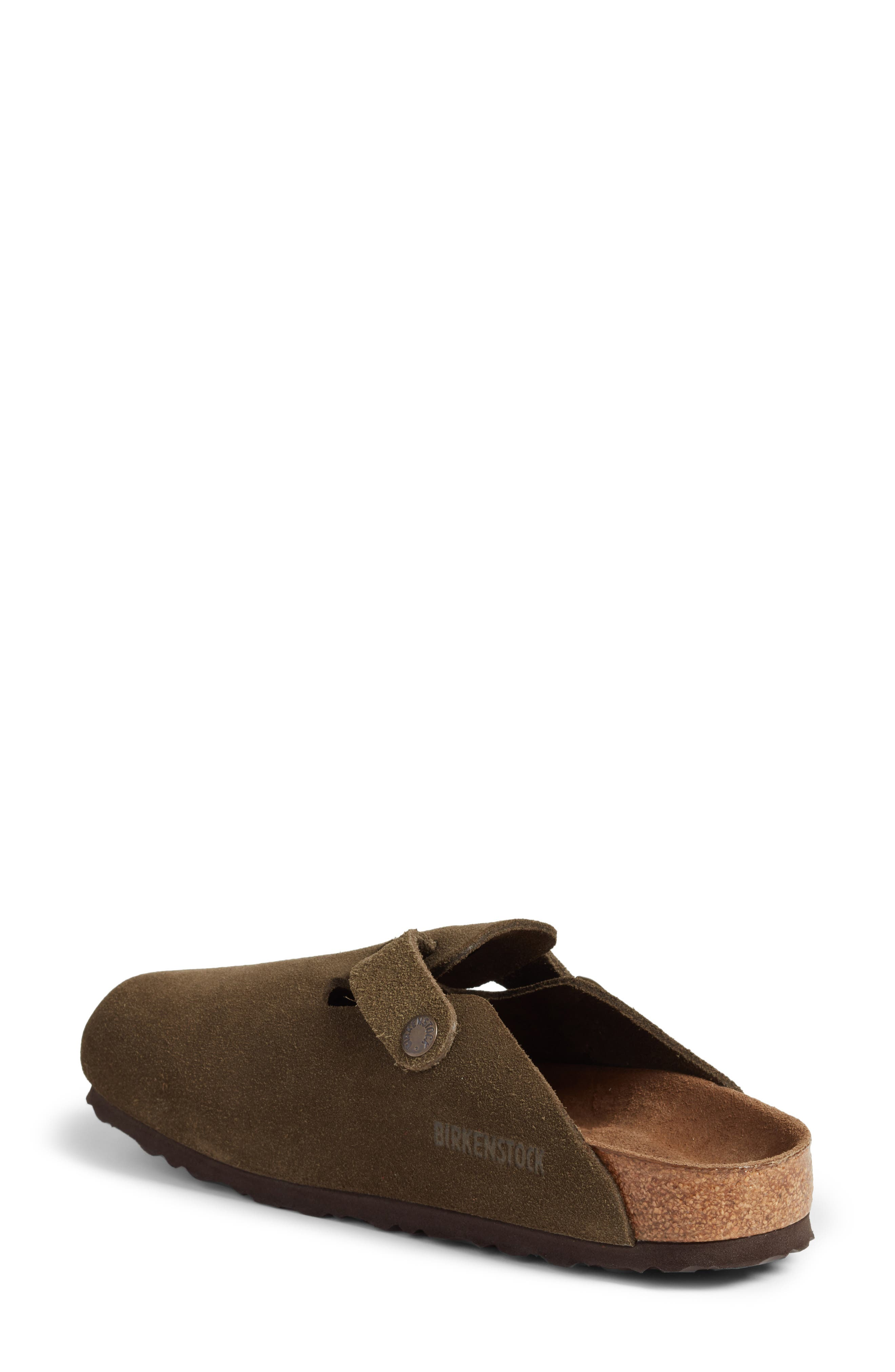 'Boston' Soft Footbed Clog,                             Alternate thumbnail 2, color,                             Forest Suede
