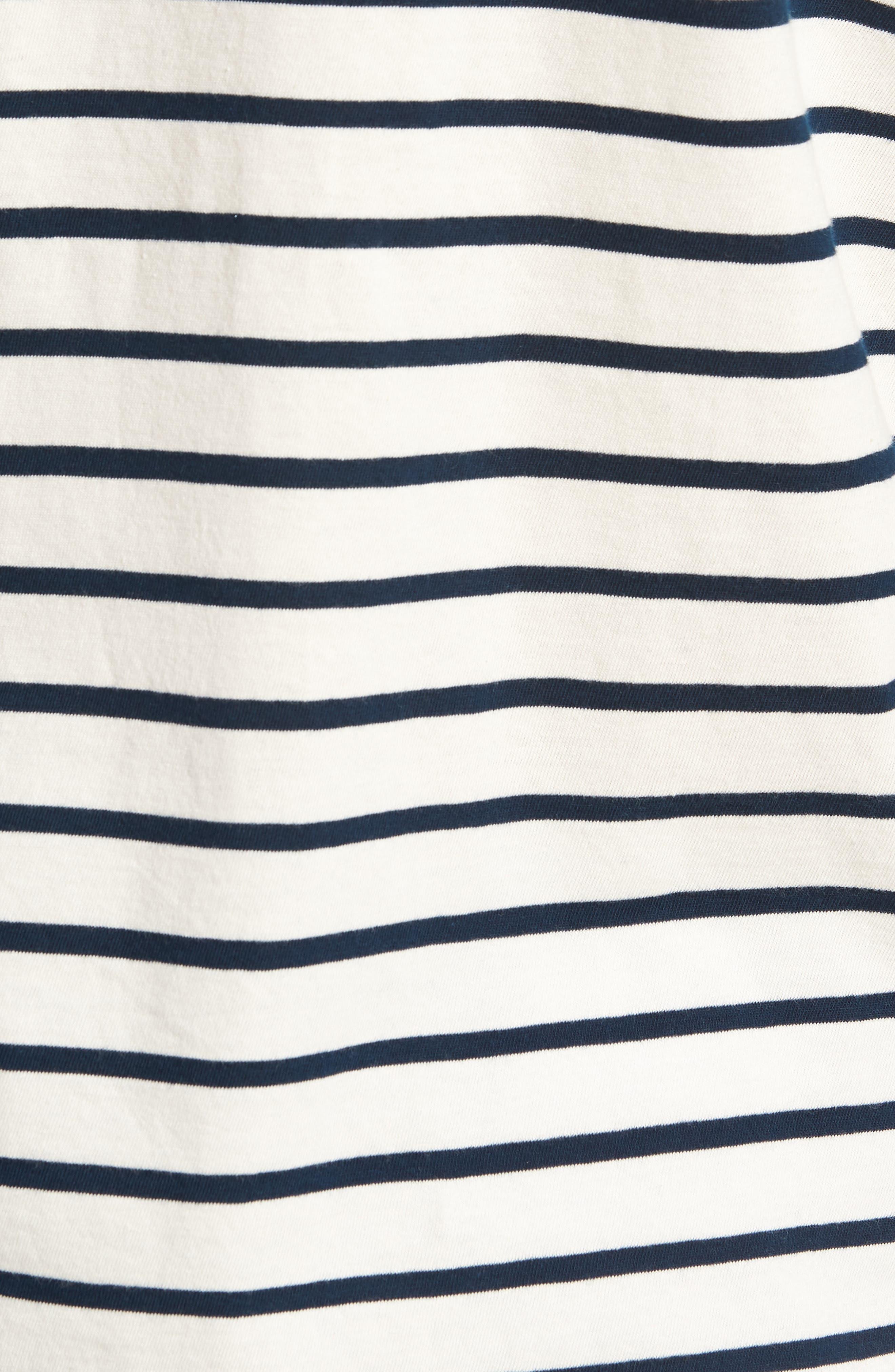 Mercantile Stripe Long Sleeve T-Shirt,                             Alternate thumbnail 5, color,                             Mountain White