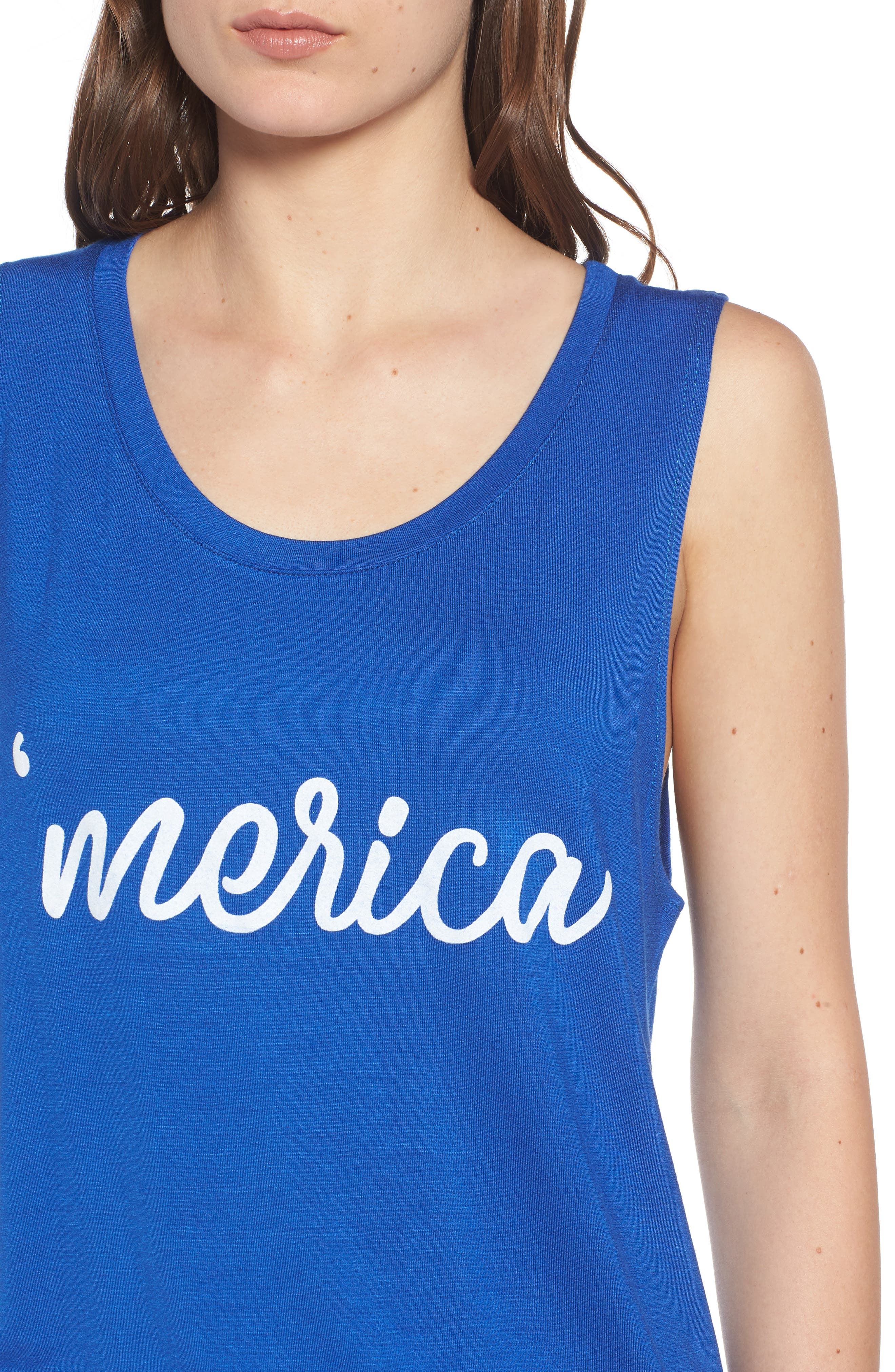 'Merica Tank,                             Alternate thumbnail 4, color,                             Navy