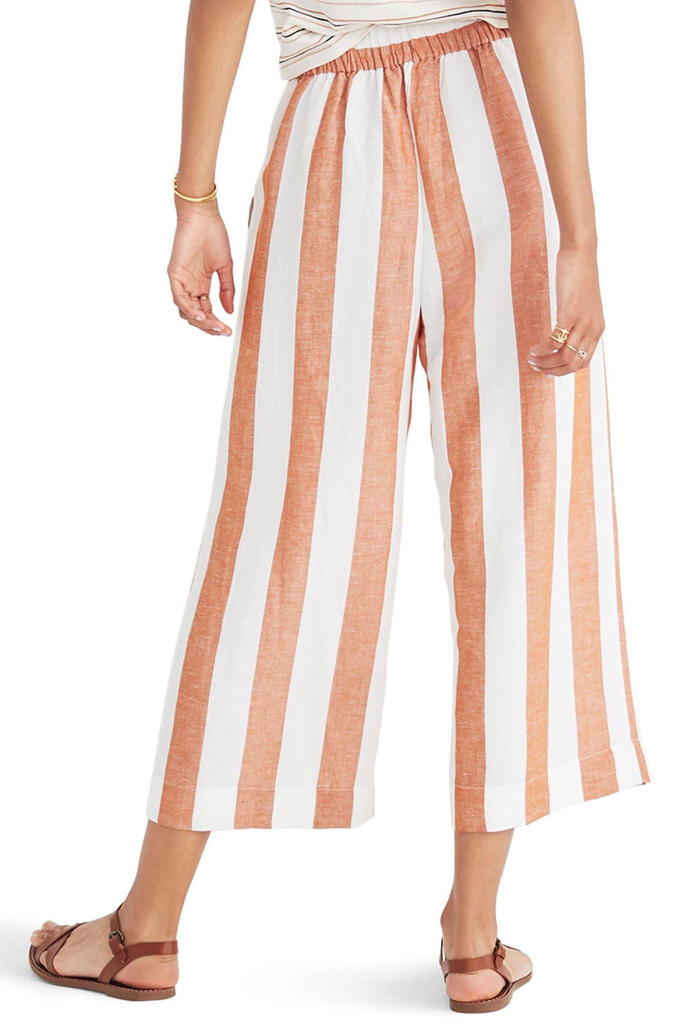 Huston Stripe Crop Pants,                             Alternate thumbnail 2, color,                             Burnt Orange