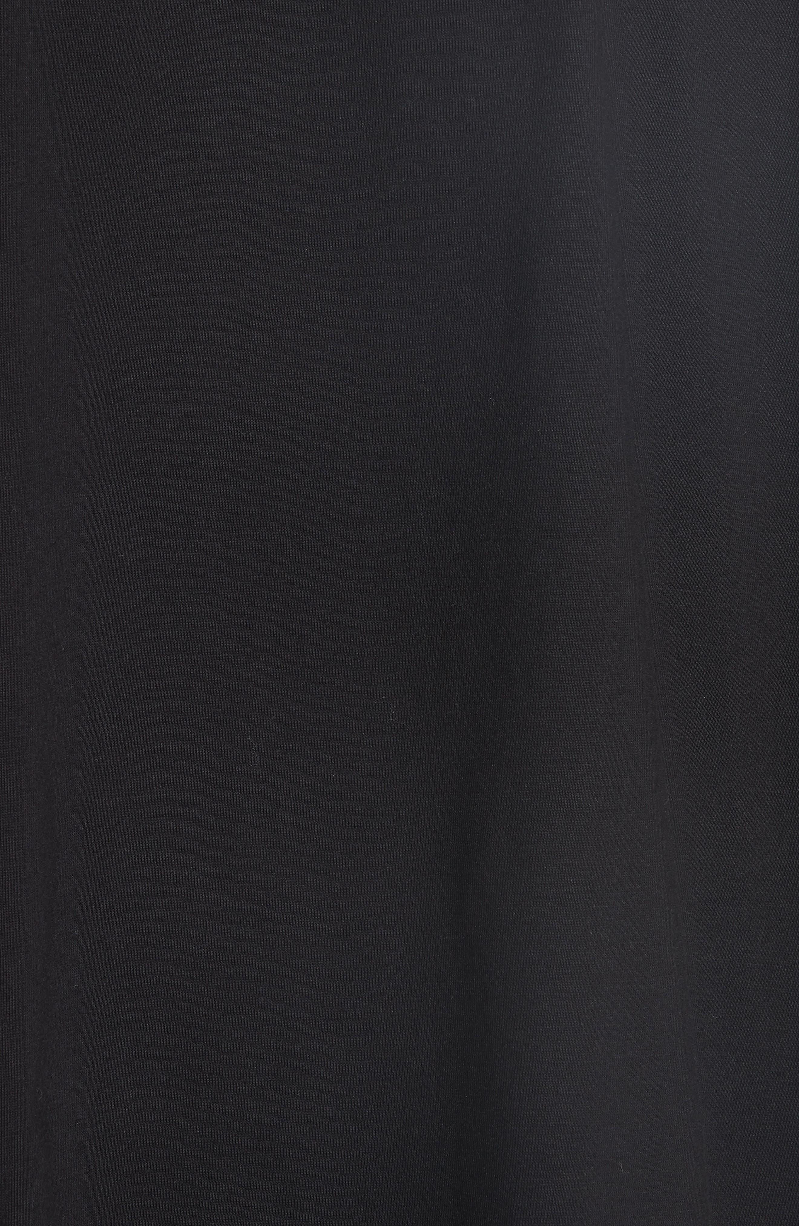 Lace Sleeve Top,                             Alternate thumbnail 5, color,                             Black