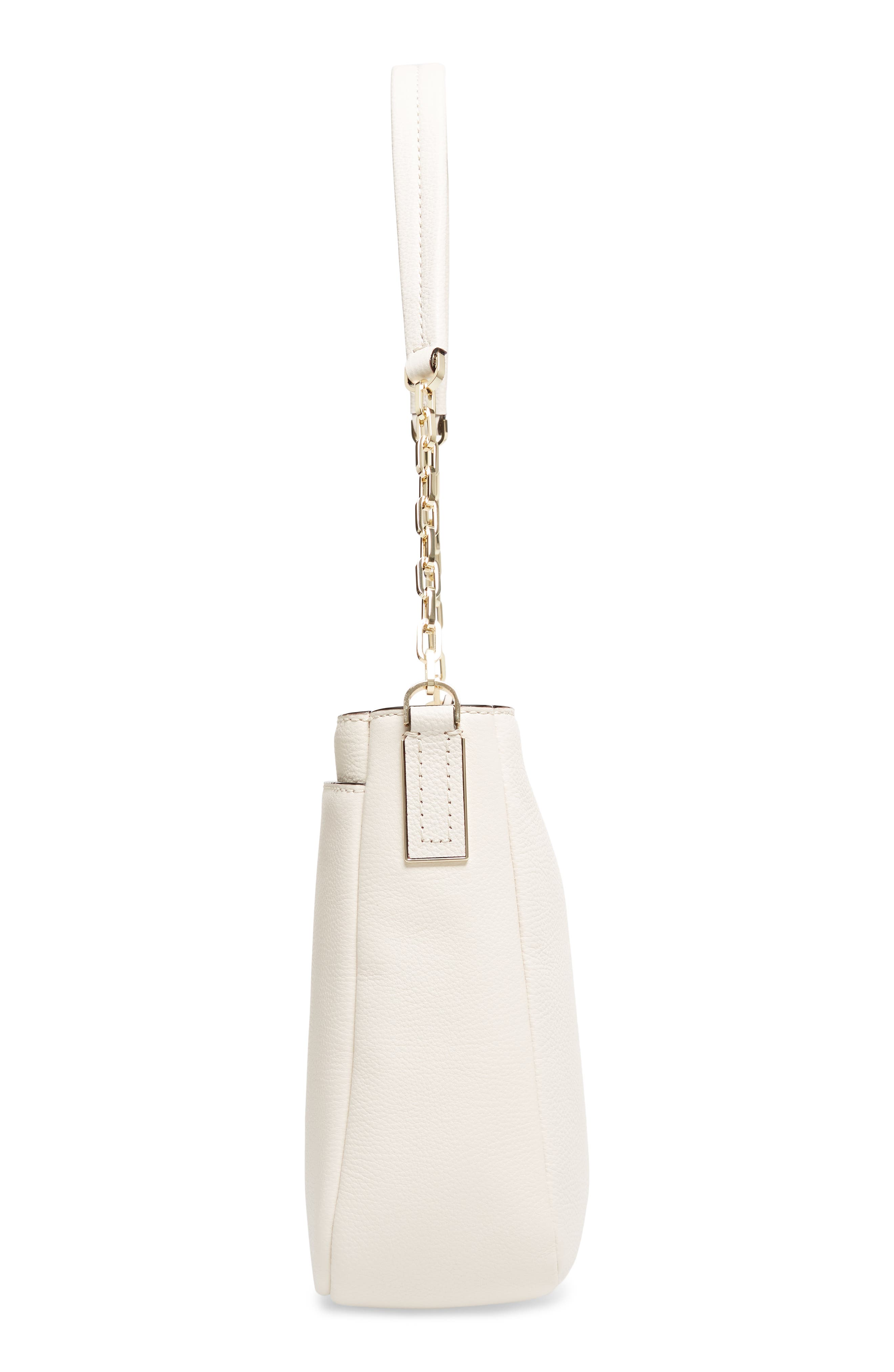 kingston drive - shannon leather shoulder bag,                             Alternate thumbnail 5, color,                             Bleach Bone