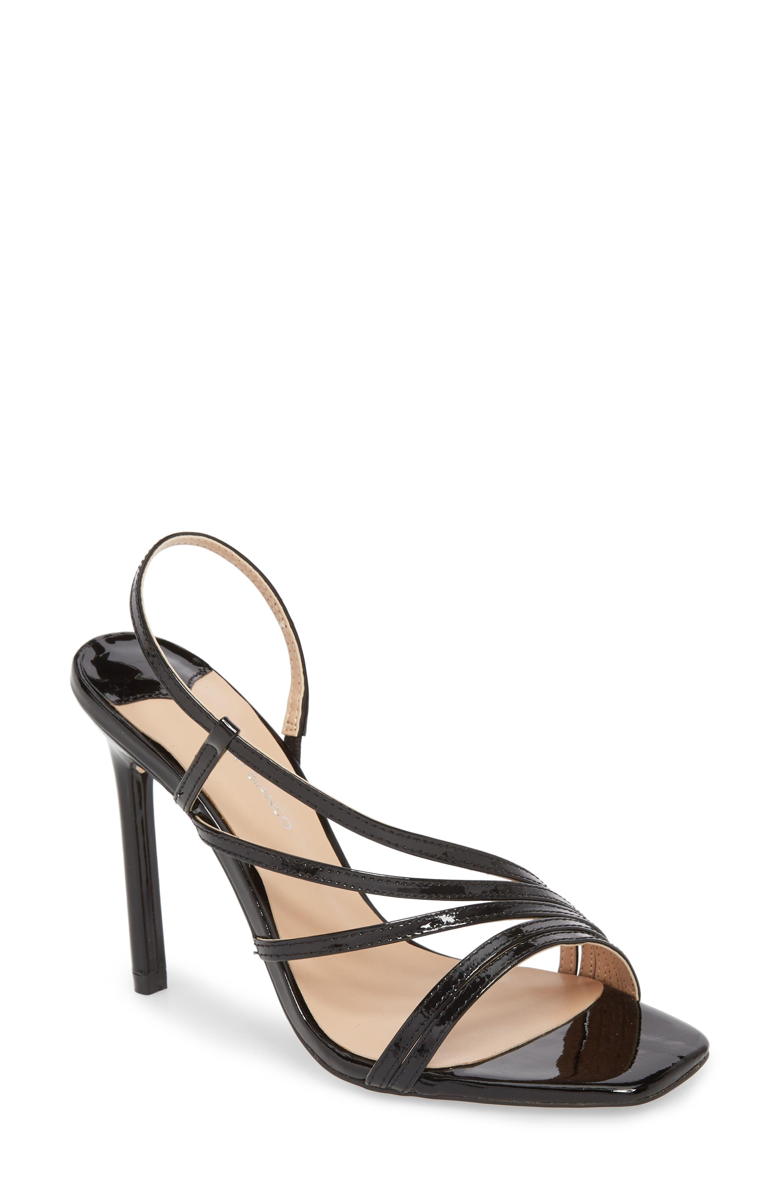 Selena Sandal,                             Main thumbnail 1, color,                             Black Patent Leather