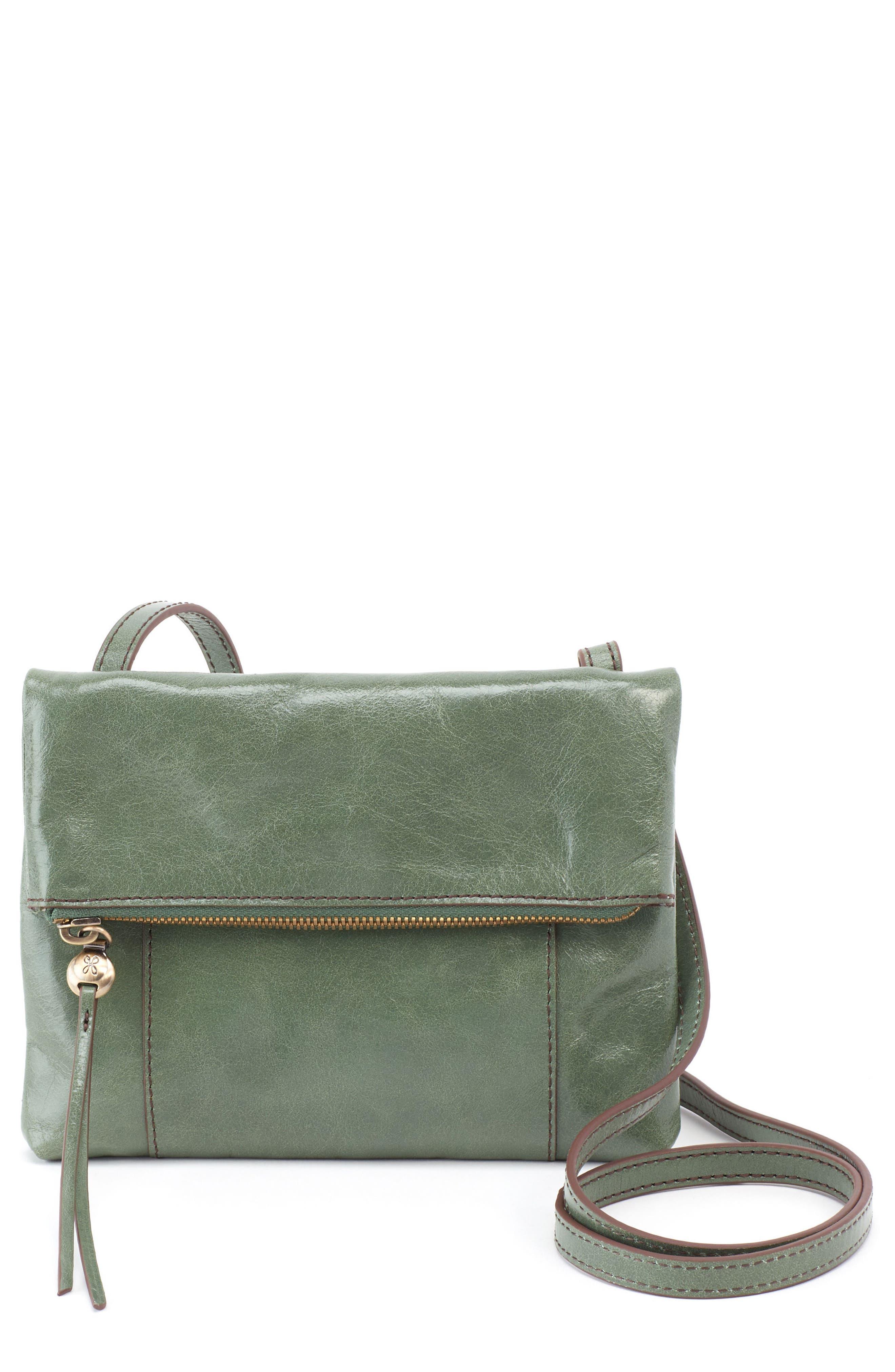Sparrow Foldover Crossbody Bag,                         Main,                         color, Moss