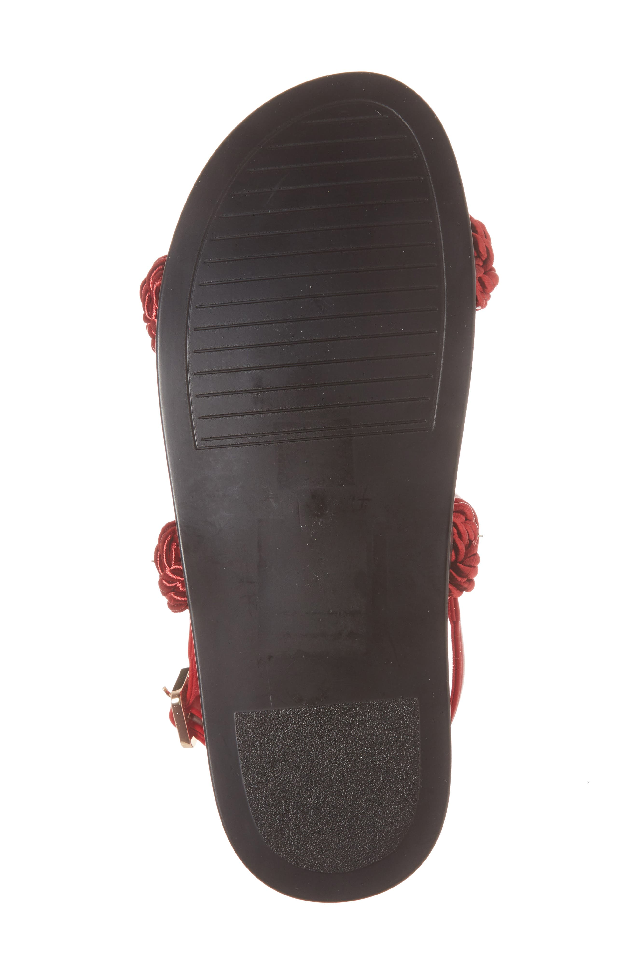 Hackney Rope Footbed Sandals,                             Alternate thumbnail 6, color,                             Red