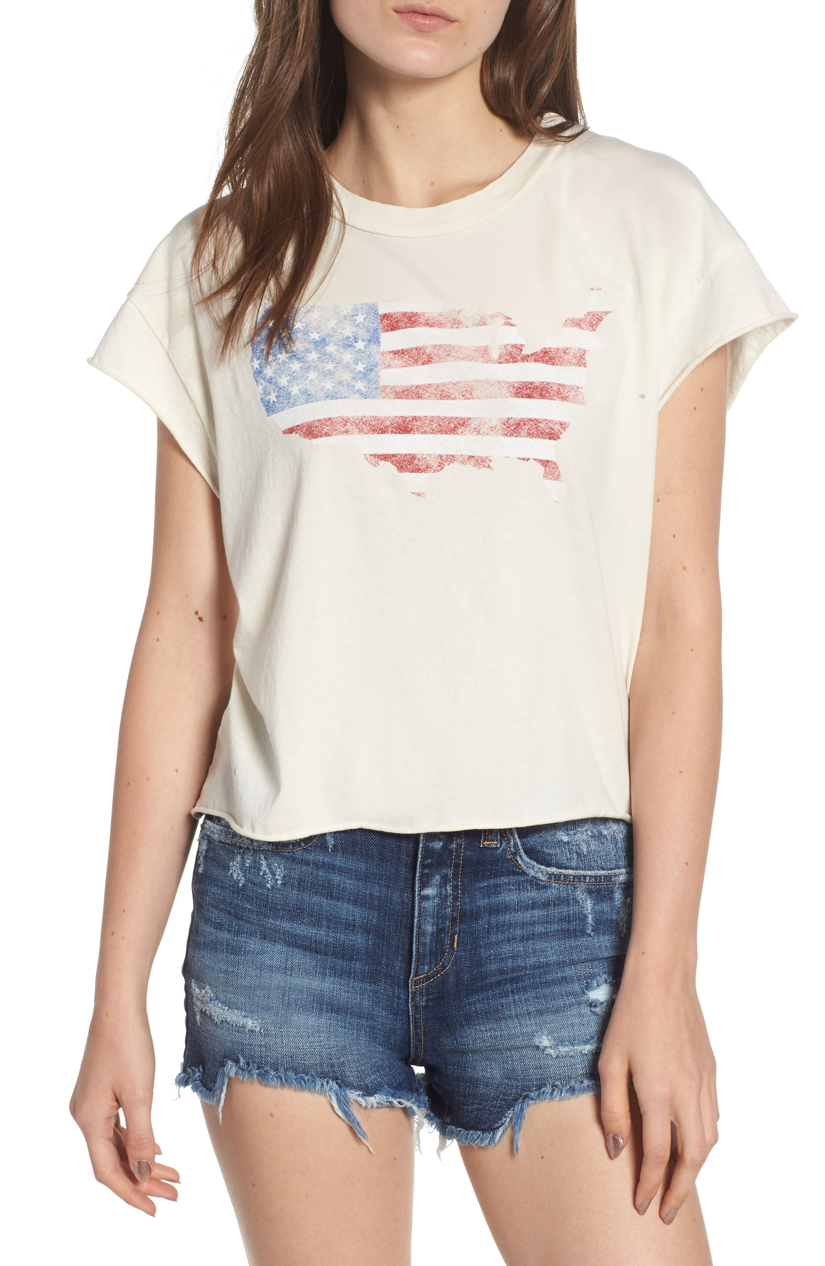 Usa Vintage Look Tee by Pst By Project Social T