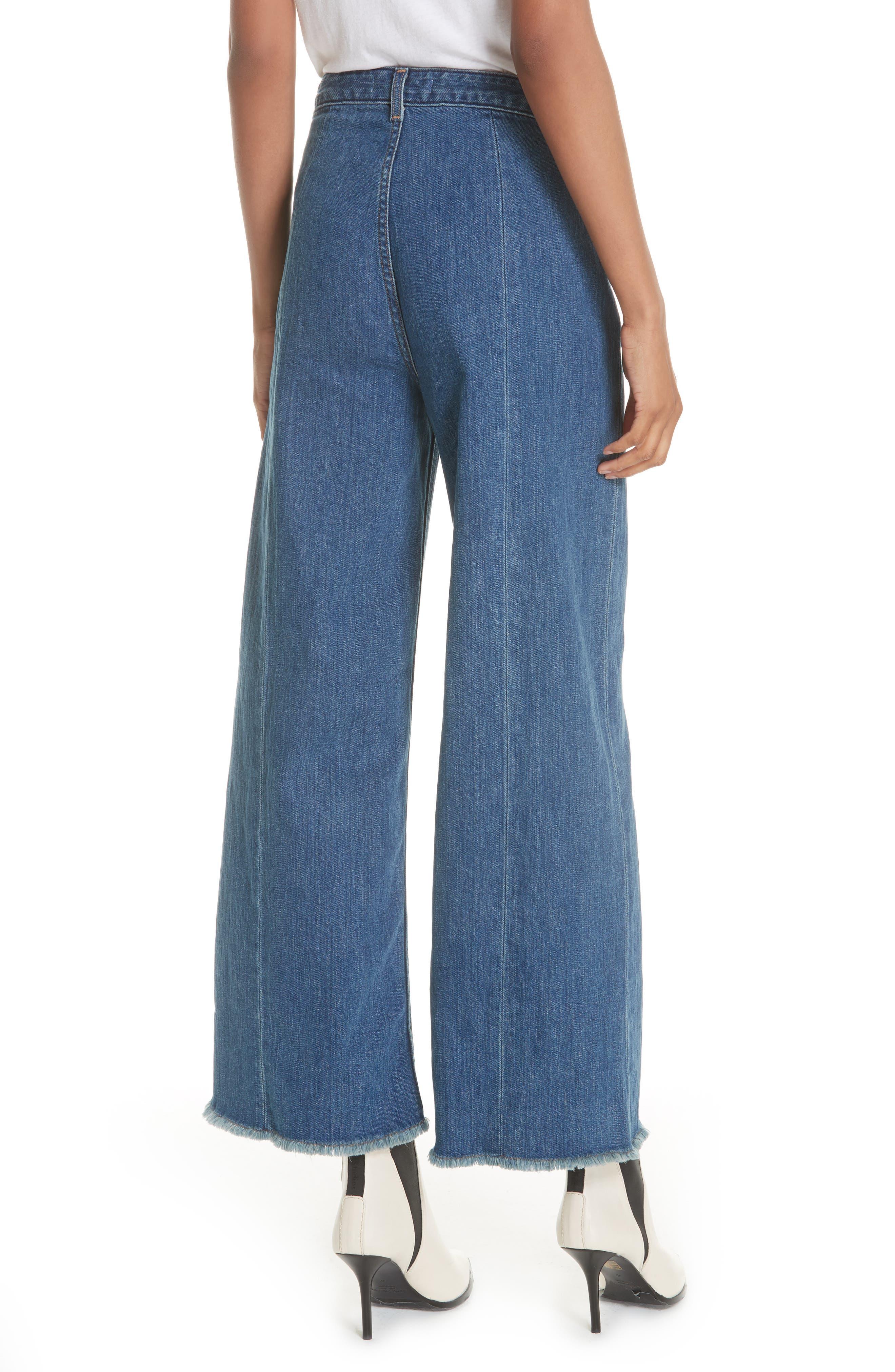 Carmine Wide Leg Jeans,                             Alternate thumbnail 2, color,                             Medium Denim