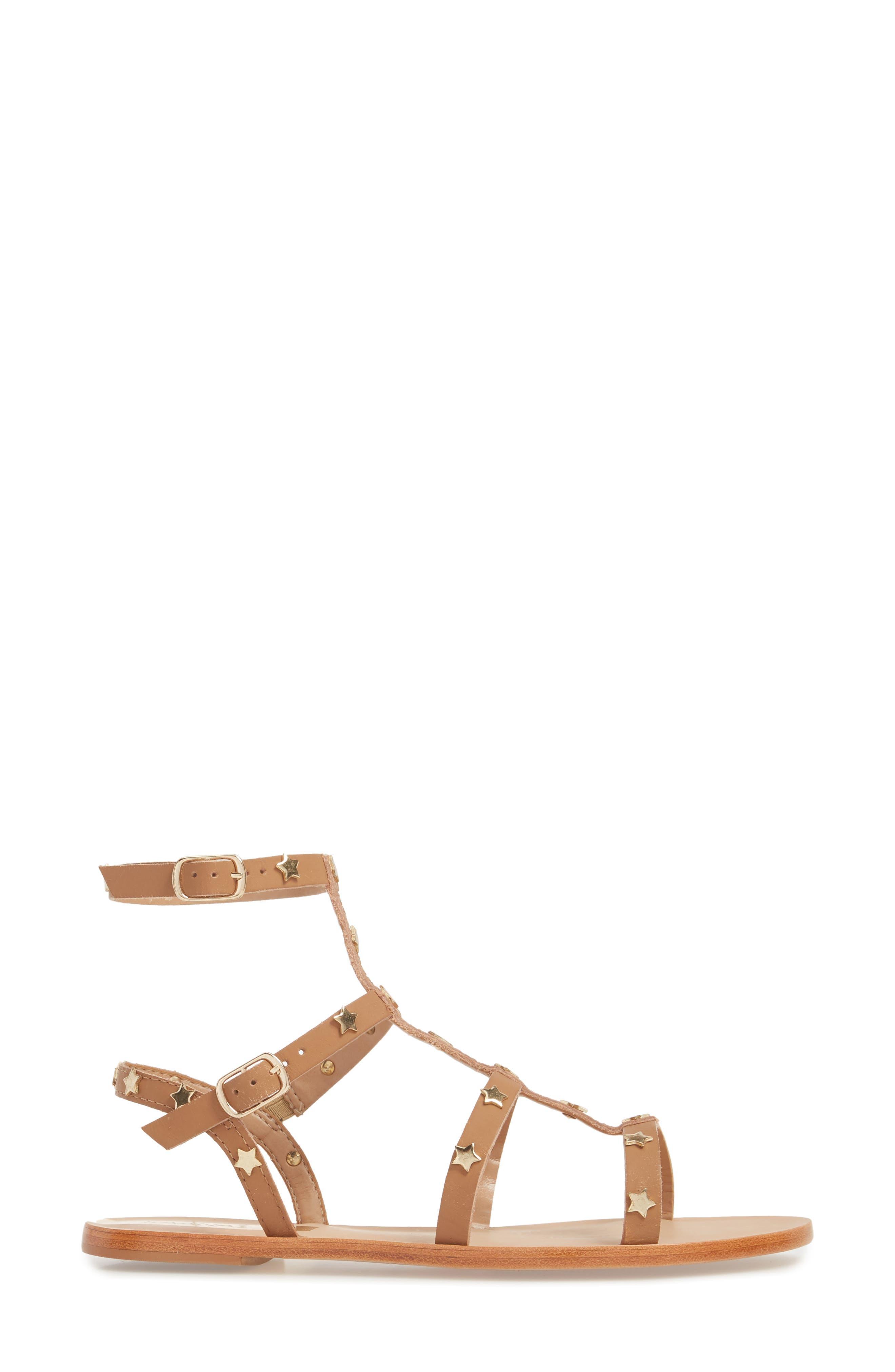 Lapa Gladiator Sandal,                             Alternate thumbnail 3, color,                             Honey