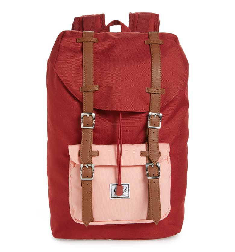 Herschel Supply Co. Little America - Mid Volume Backpack - Red In Brick Red  910d91517a