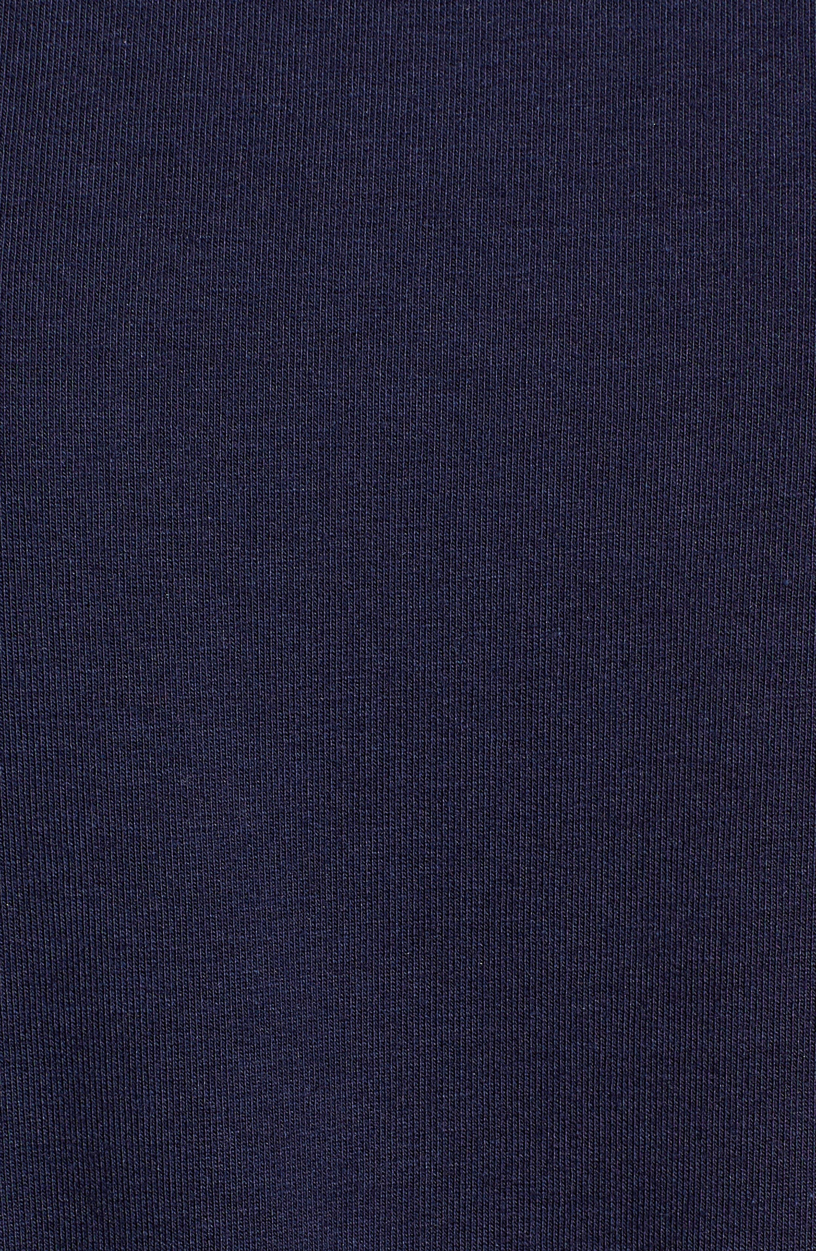 Drawcord Peplum Cotton Blend Top,                             Alternate thumbnail 6, color,                             Navy Peacoat