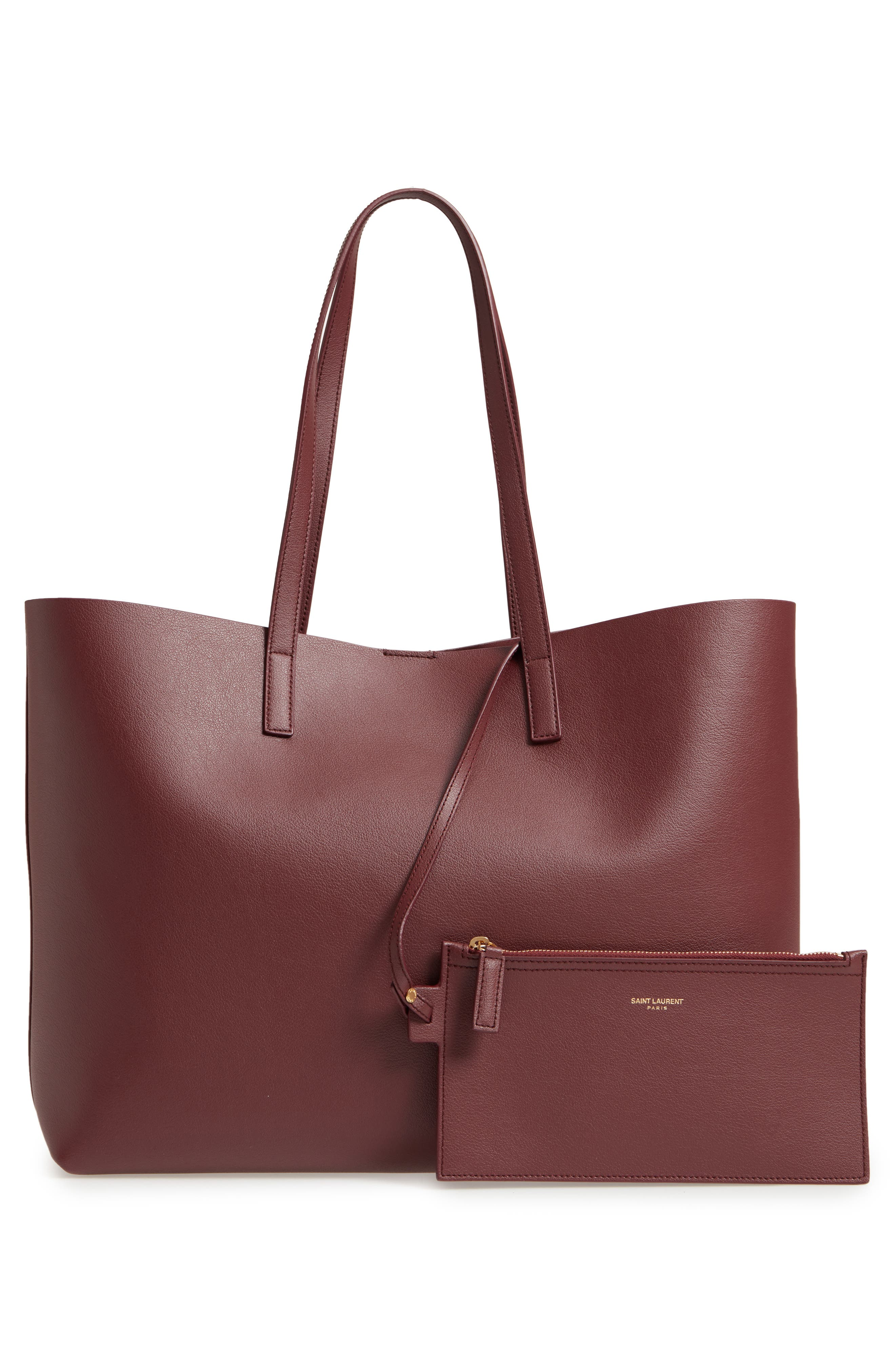 'Shopping' Leather Tote,                             Alternate thumbnail 3, color,                             Rouge Legion