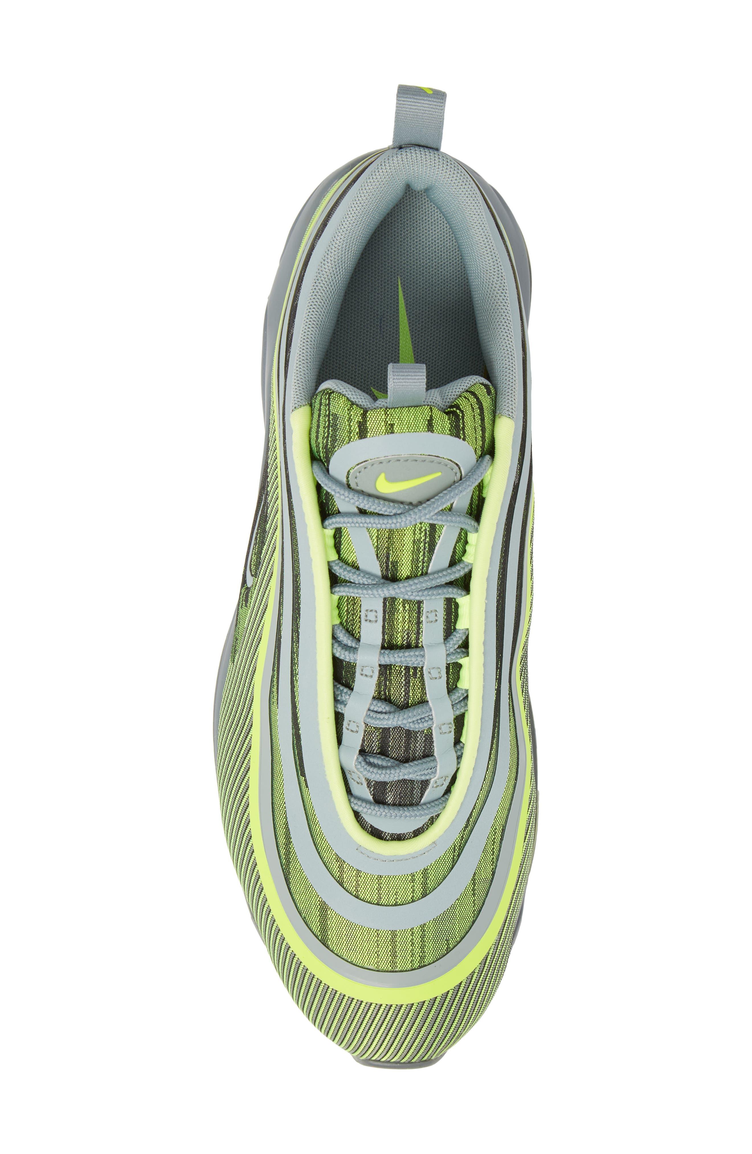 Air Max 97 Ultra '17 Sneaker,                             Alternate thumbnail 4, color,                             Volt/ Mica Green/ Cool Grey