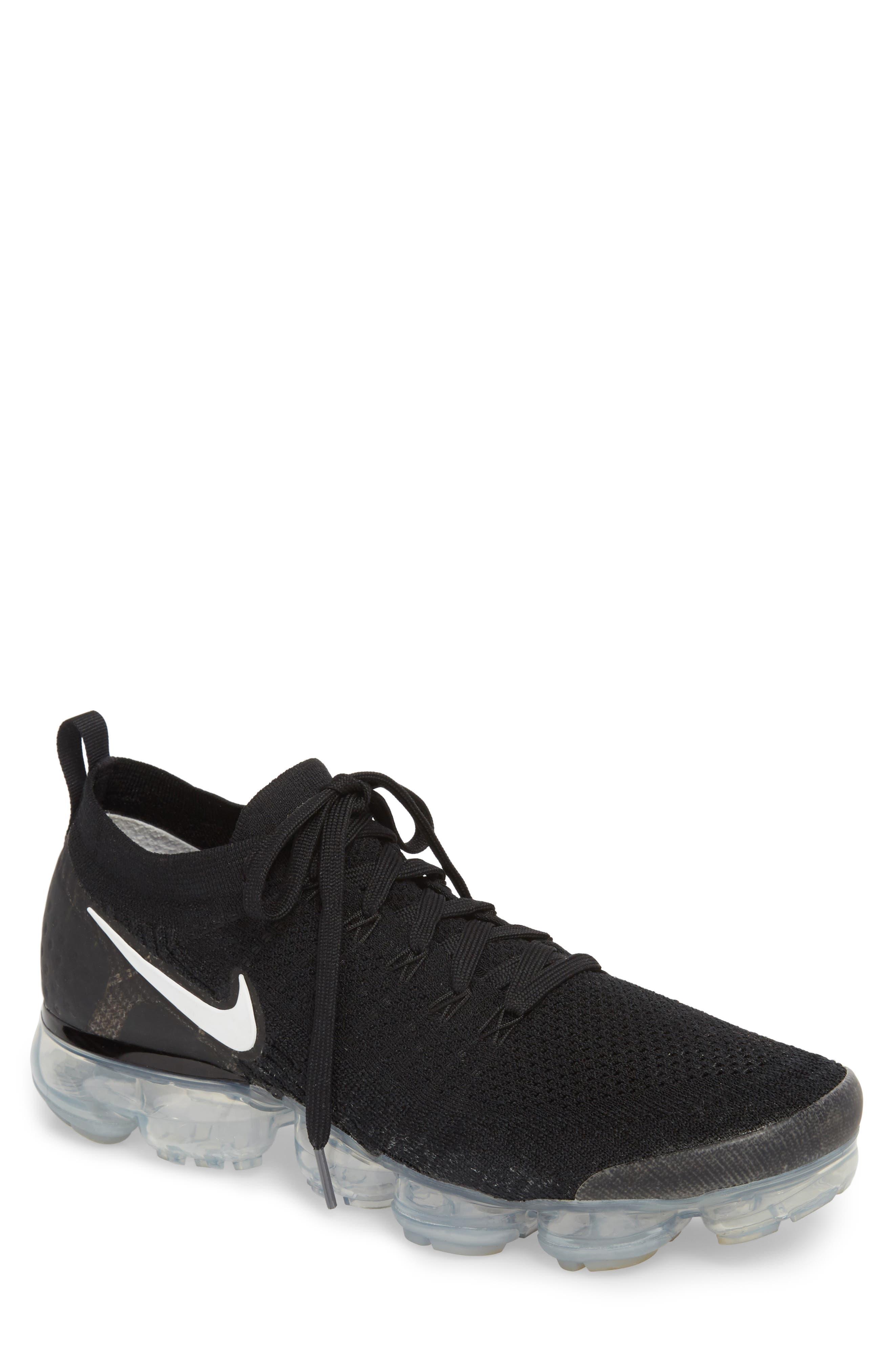 Air Vapormax Flyknit 2 Running Shoe,                             Main thumbnail 1, color,                             Black/ White/ Dark Grey