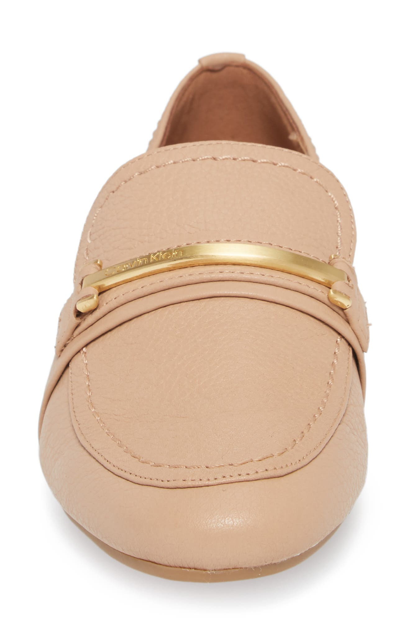 Orianna Loafer,                             Alternate thumbnail 4, color,                             Desert Sand Leather