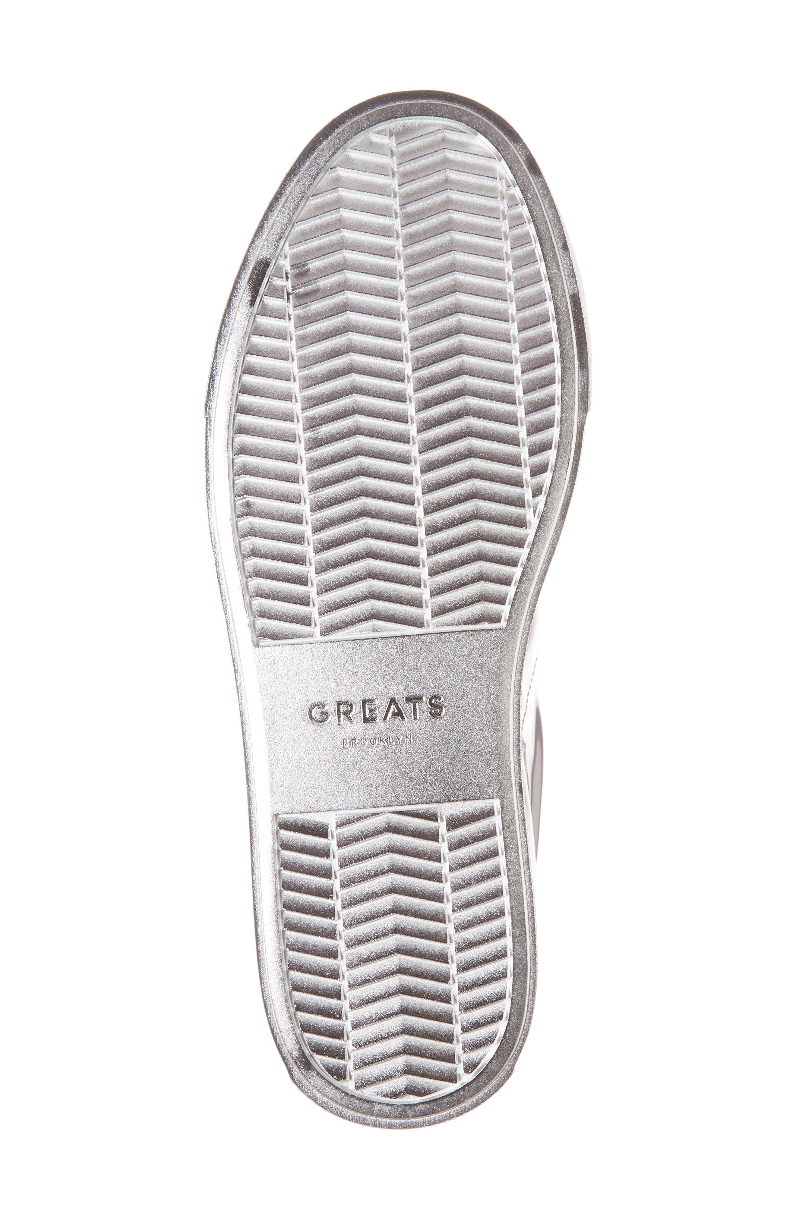 Royale Low Top Sneaker,                             Alternate thumbnail 6, color,                             Silver Tonal/ Flat Leather