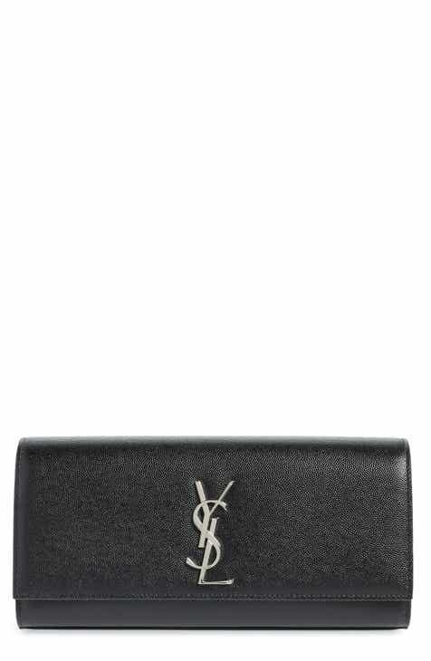 Saint Laurent Kate Calfskin Leather Clutch