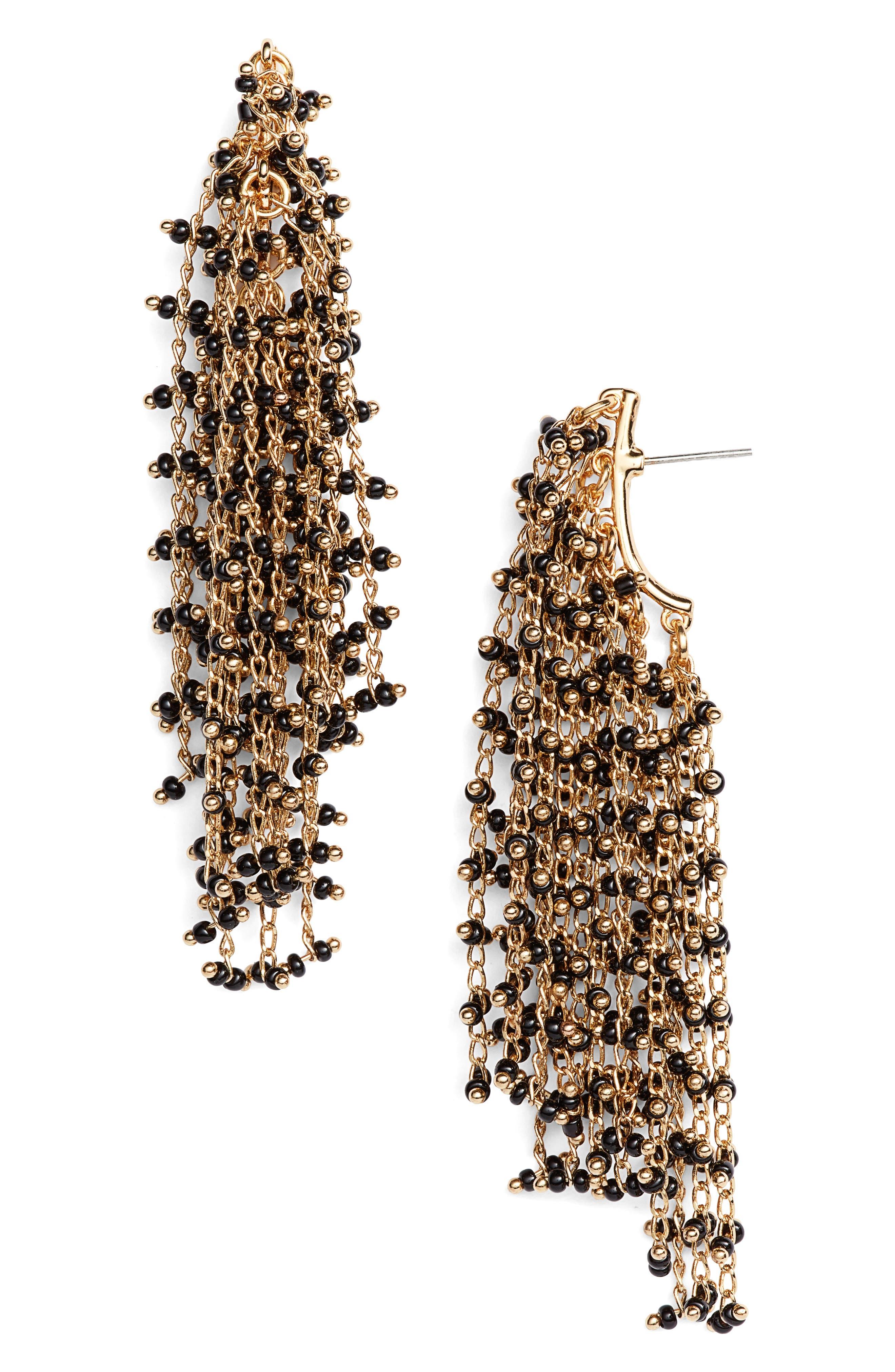 Waterfall Drop Earrings,                         Main,                         color, Gold