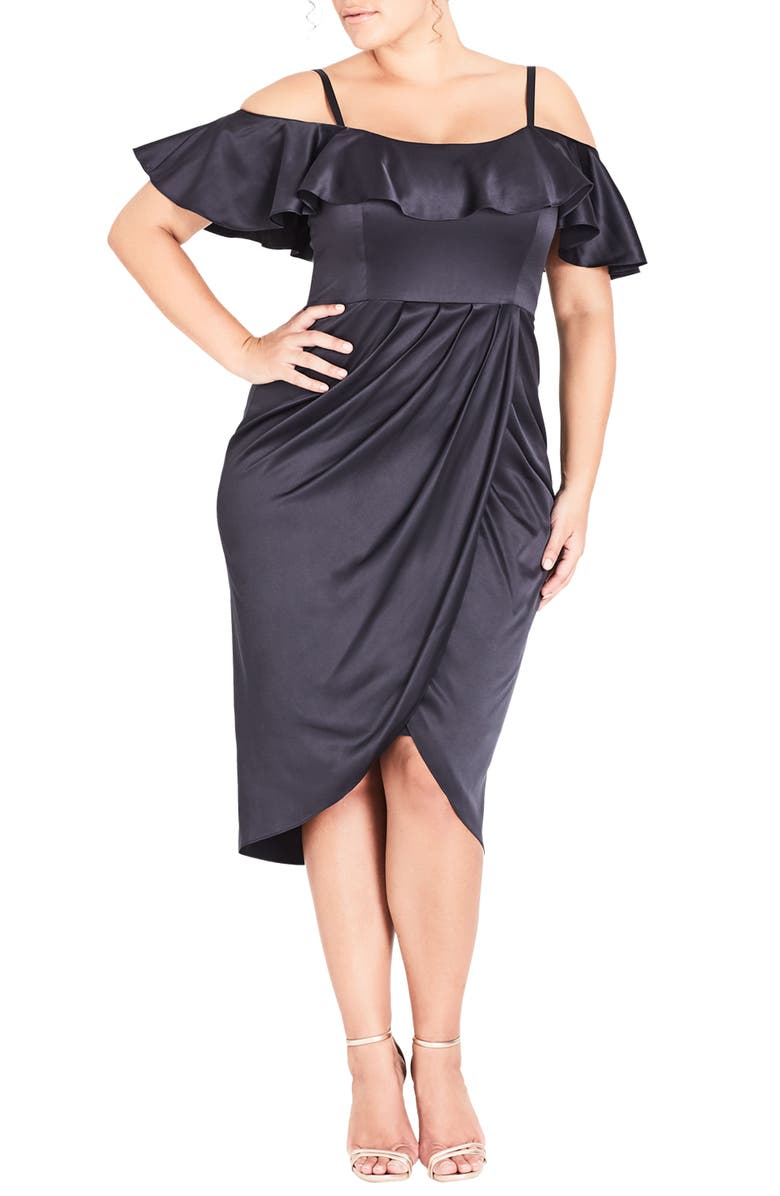 Sweet Desire Cold Shoulder Sheath Dress