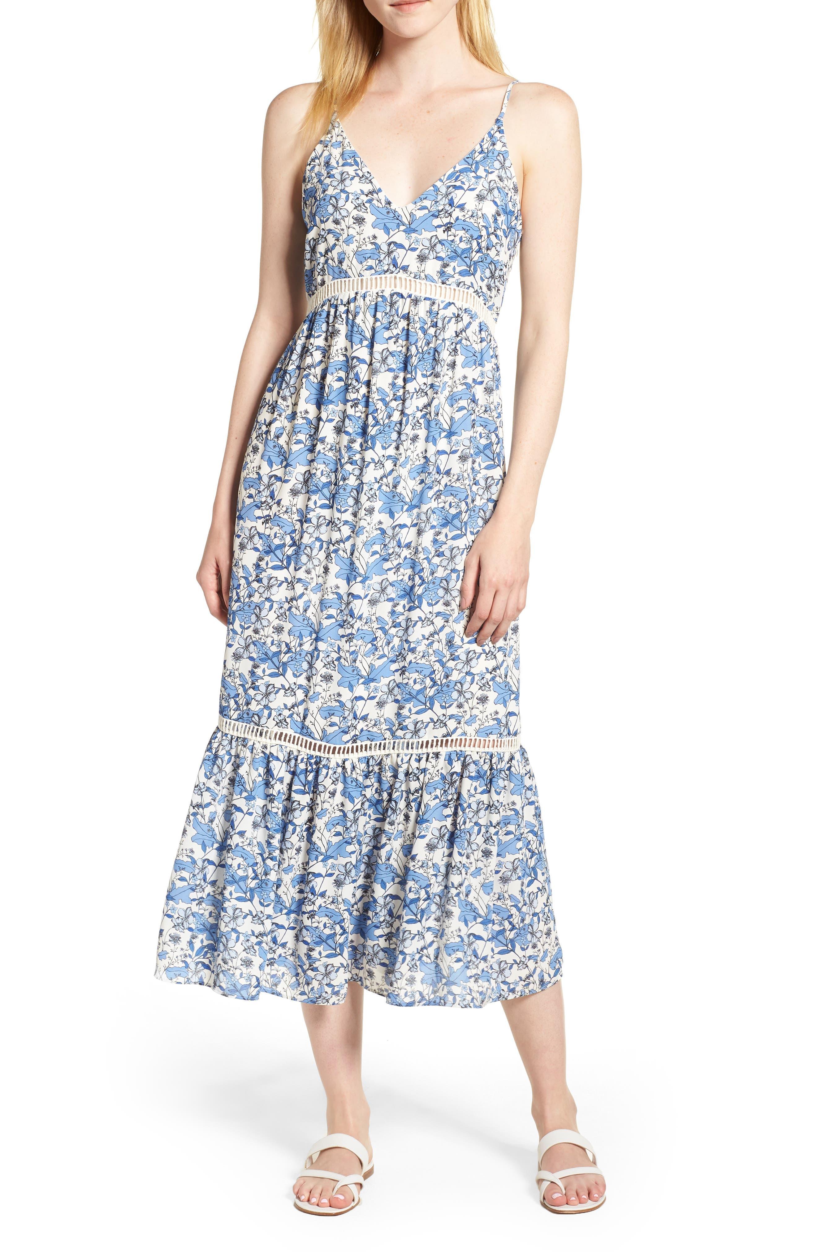 Ivy Forest Maxi Dress,                             Main thumbnail 1, color,                             Antique White