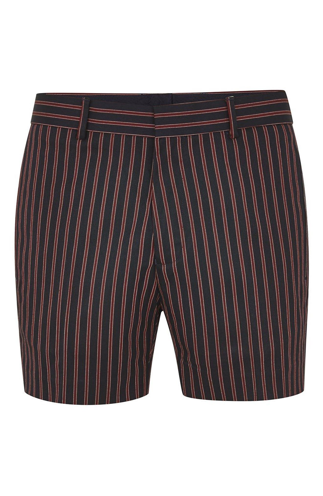 Stripe Shorts,                             Alternate thumbnail 4, color,                             Red