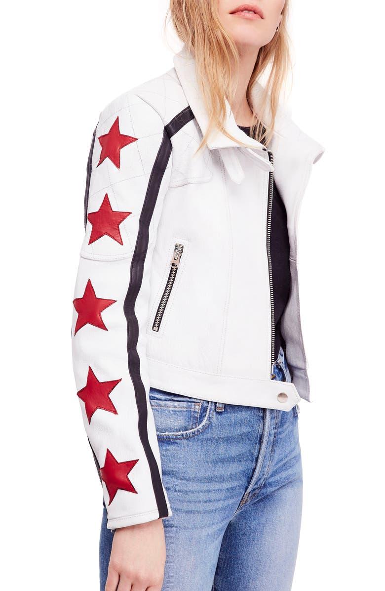 Star Power Leather Moto Jacket