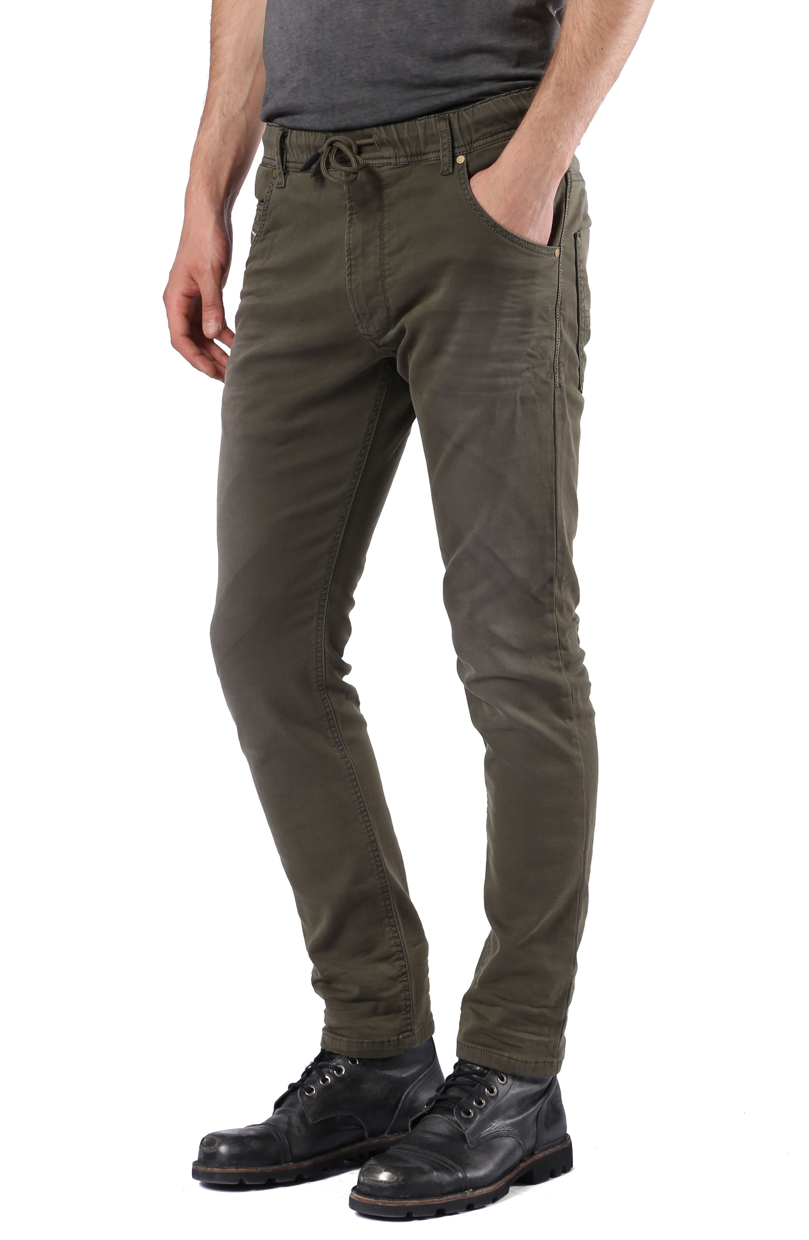 Krooley Slouchy Skinny Fit Jeans,                             Alternate thumbnail 4, color,                             0670M