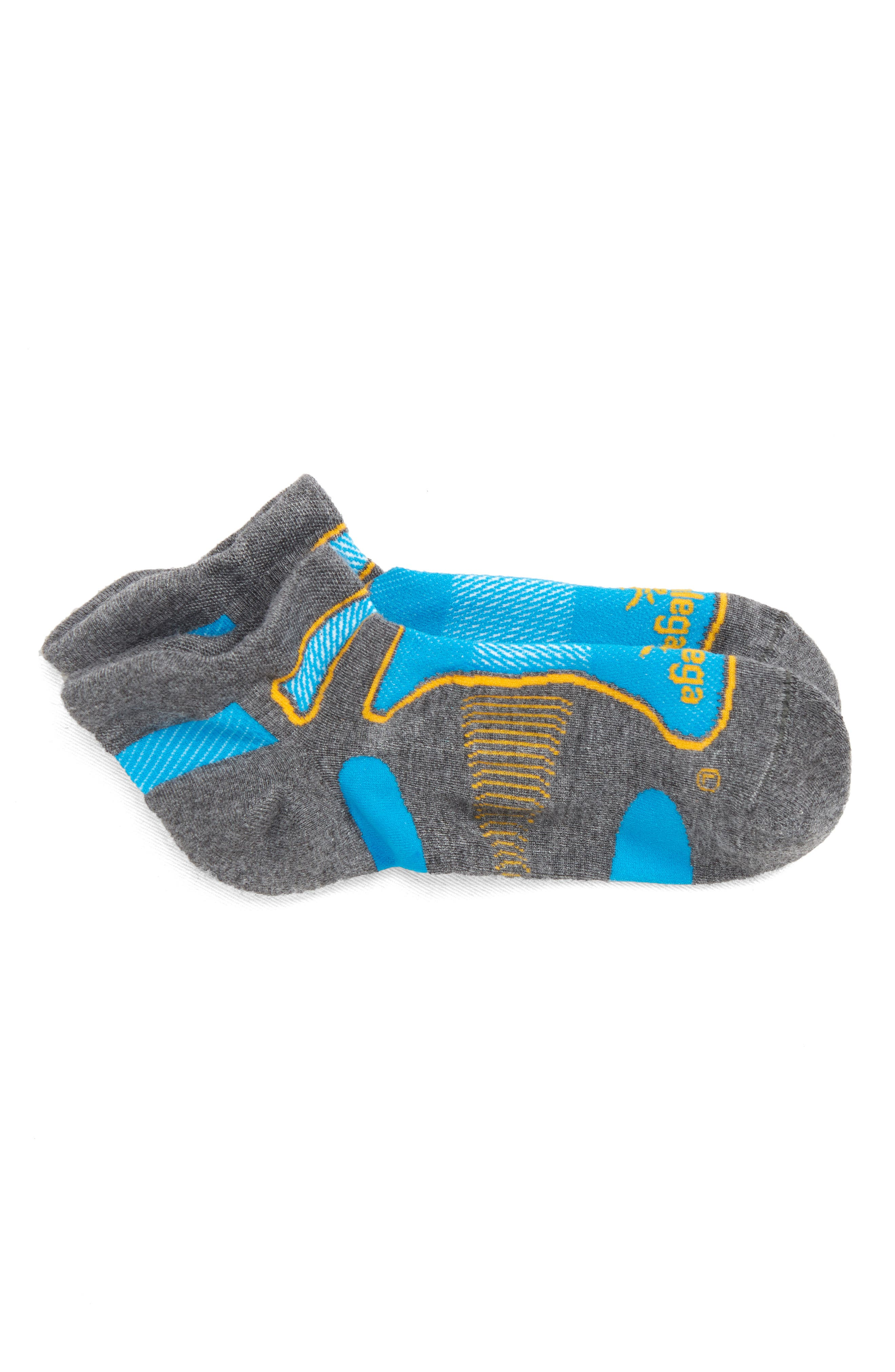 Silver Socks,                             Main thumbnail 1, color,                             Bright Turquoise/ Ink